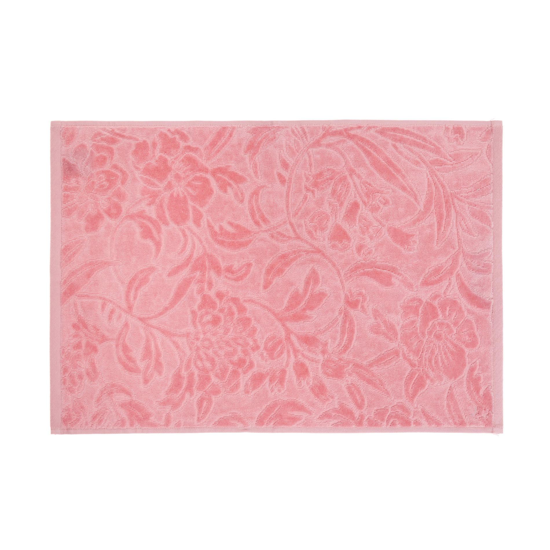 Asciugamano puro cotone lavorazione damasco, Rosa, large image number 2