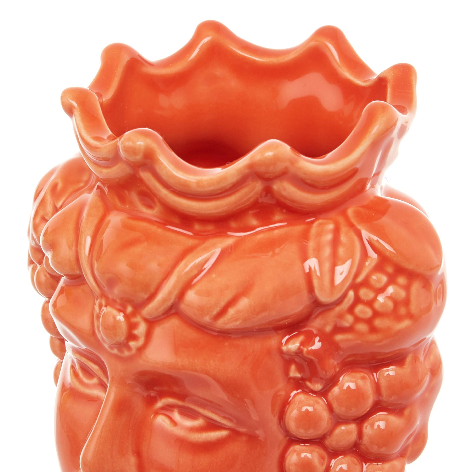 Testa di moro by Ceramiche Siciliane Ruggeri, Arancione, large image number 4