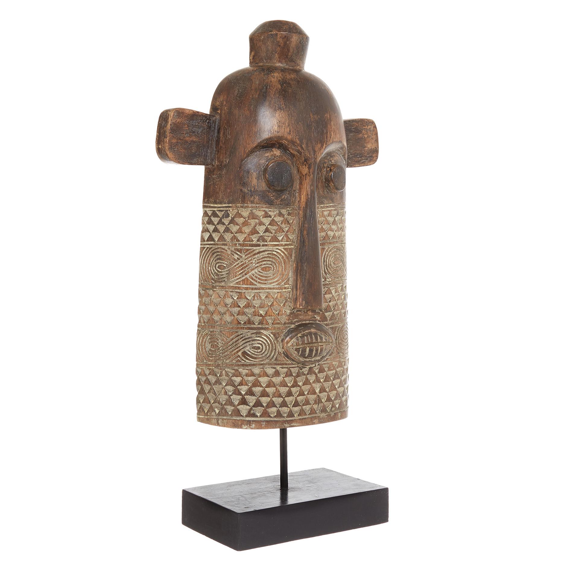 Statuina legno fatta a mano, Marrone, large image number 1