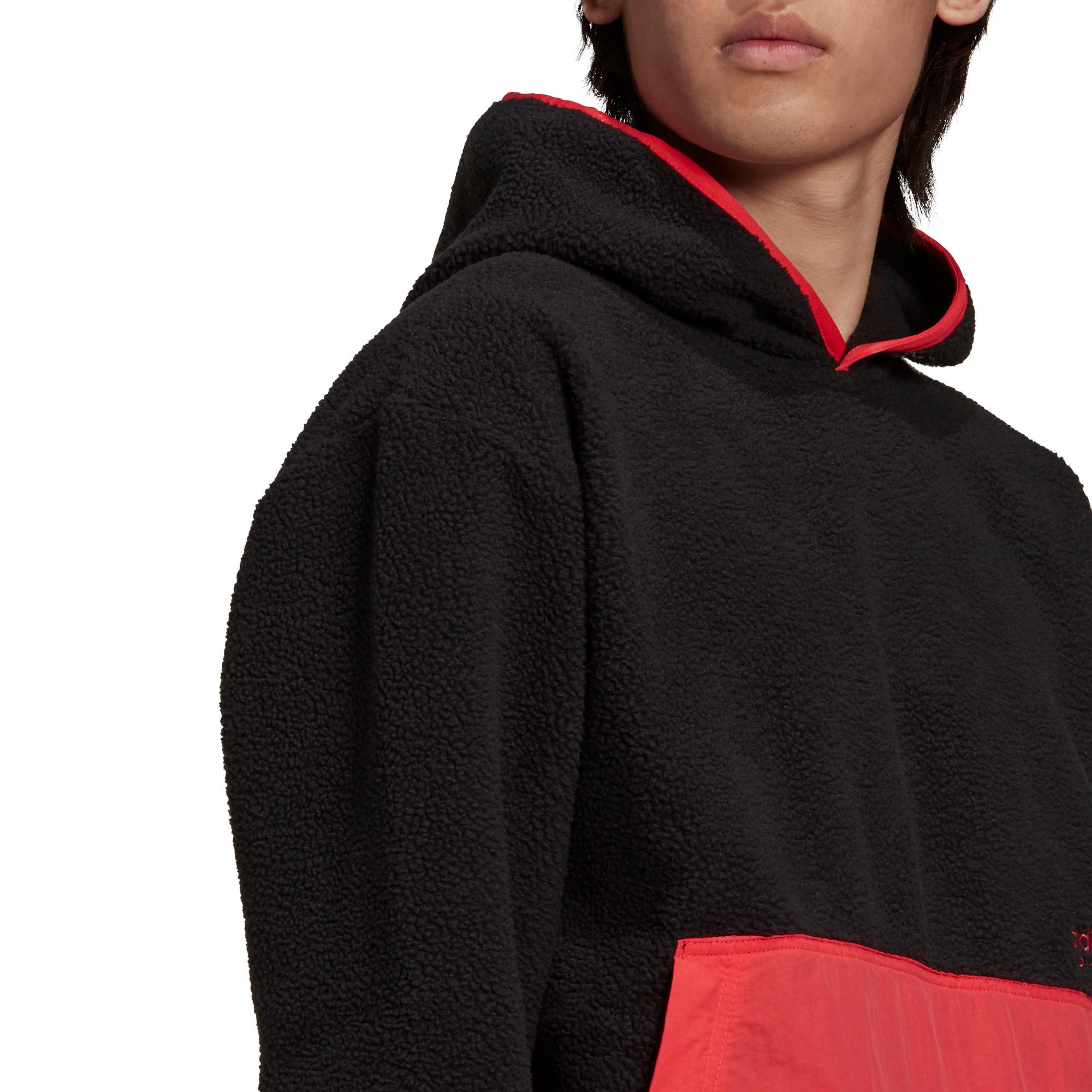 Felpa con cappuccio adidas Adventure Polar Fleece, Nero, large image number 4