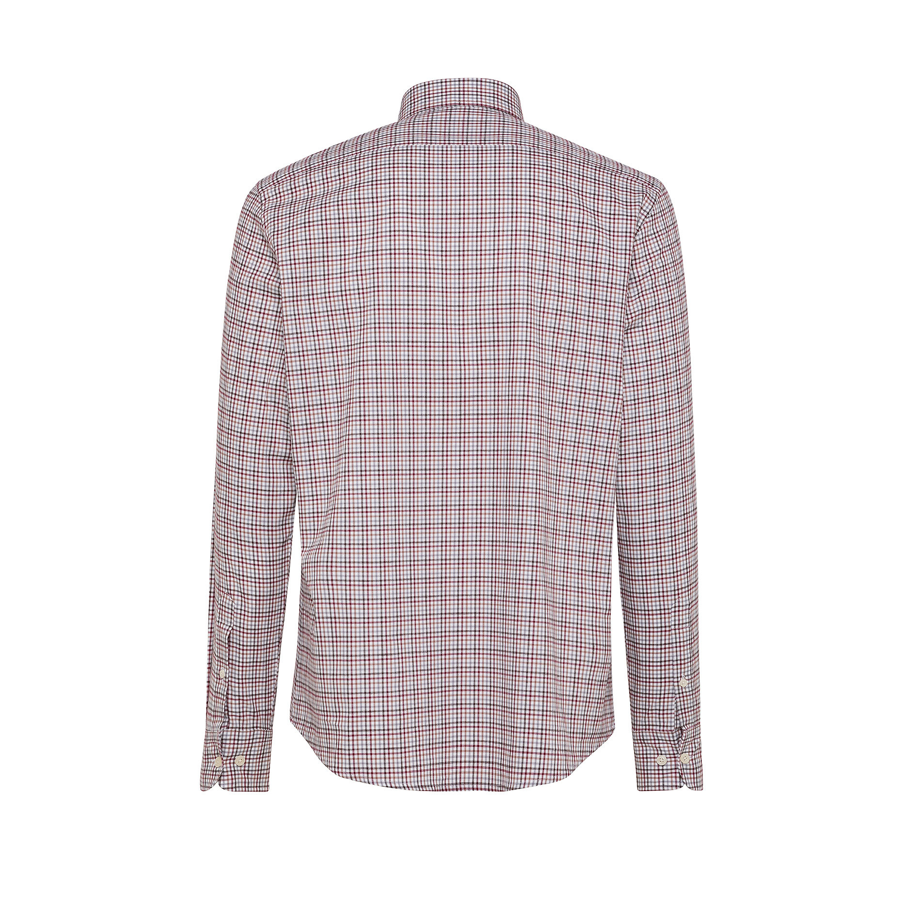 Camicia button-down tailor fit in cotone organico, Rosso scuro, large image number 1