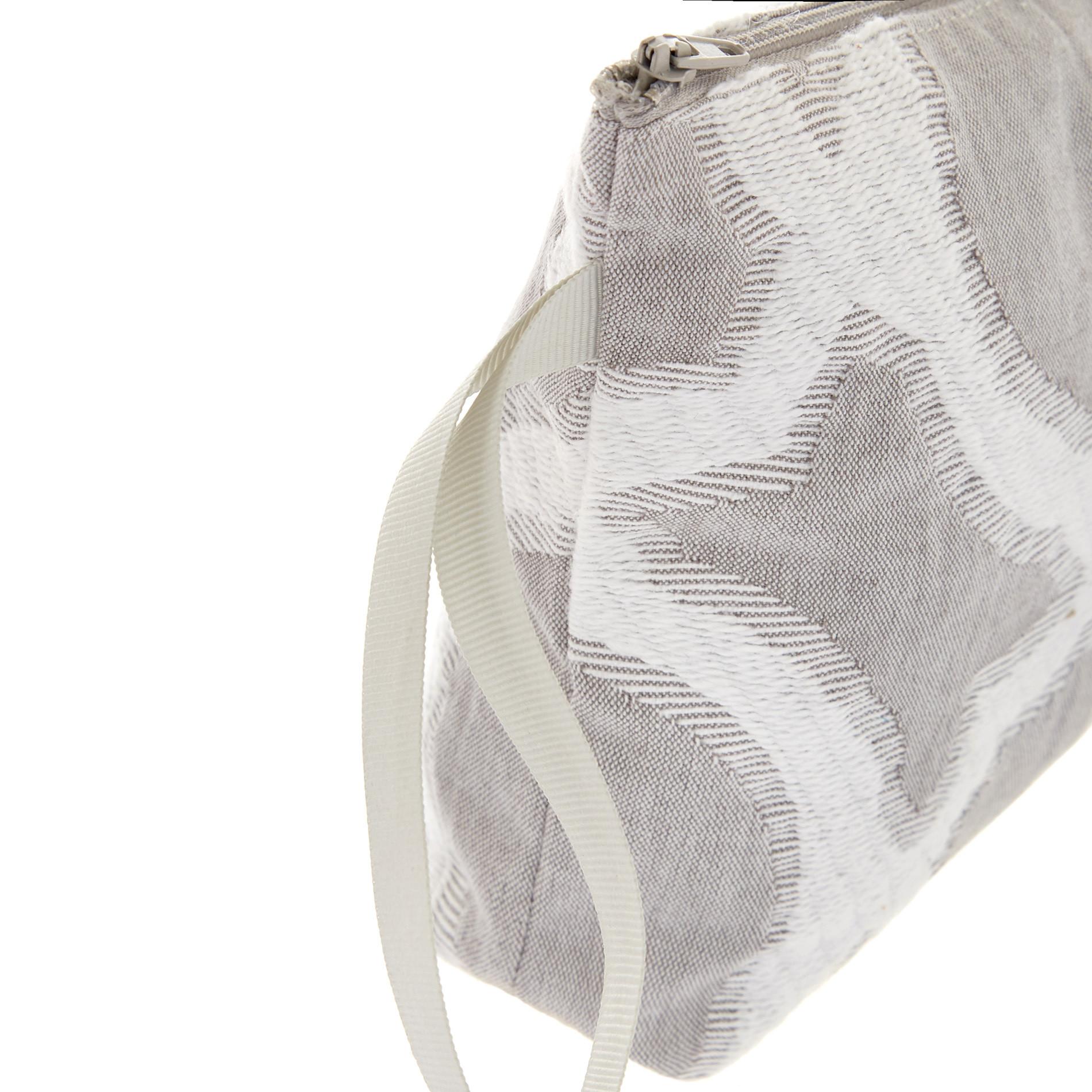 Astuccio in cotone con zip, Grigio chiaro, large image number 1