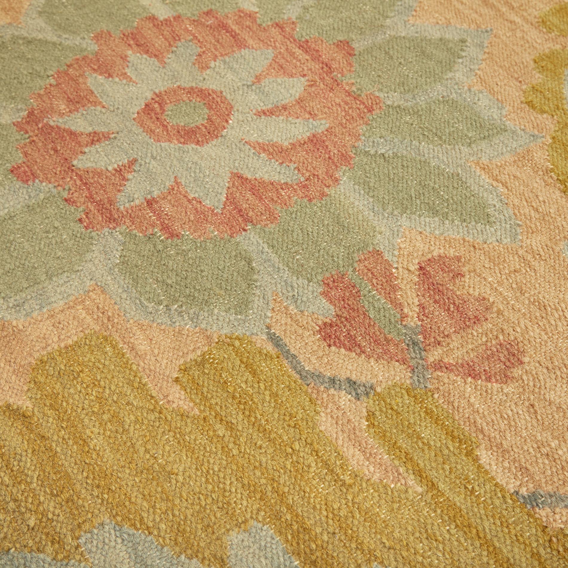 Tappeto in lana e cotone motivo floreale, Multicolor, large image number 1