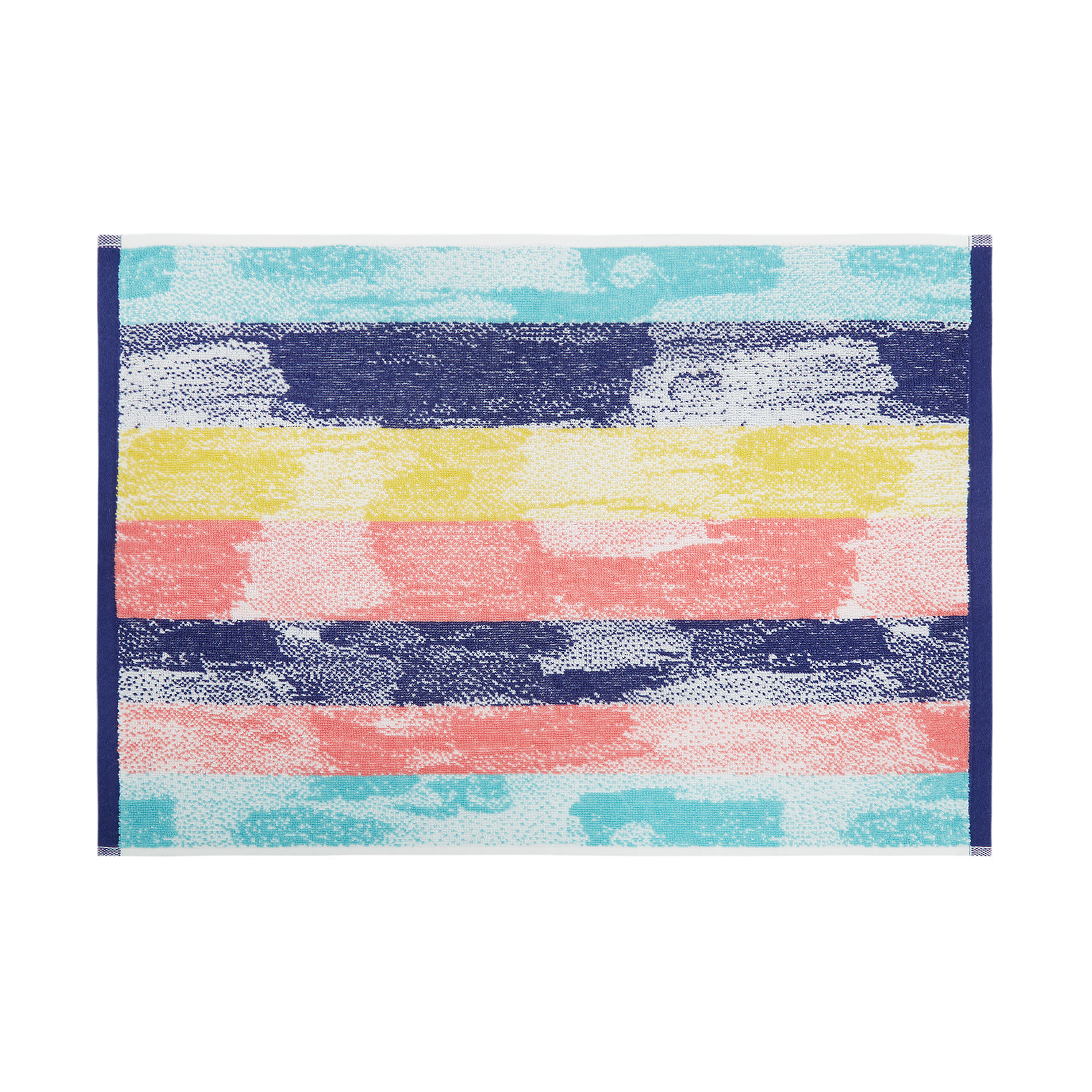 Asciugamano spugna di cotone fantasia pennellate, Multicolor, large image number 2