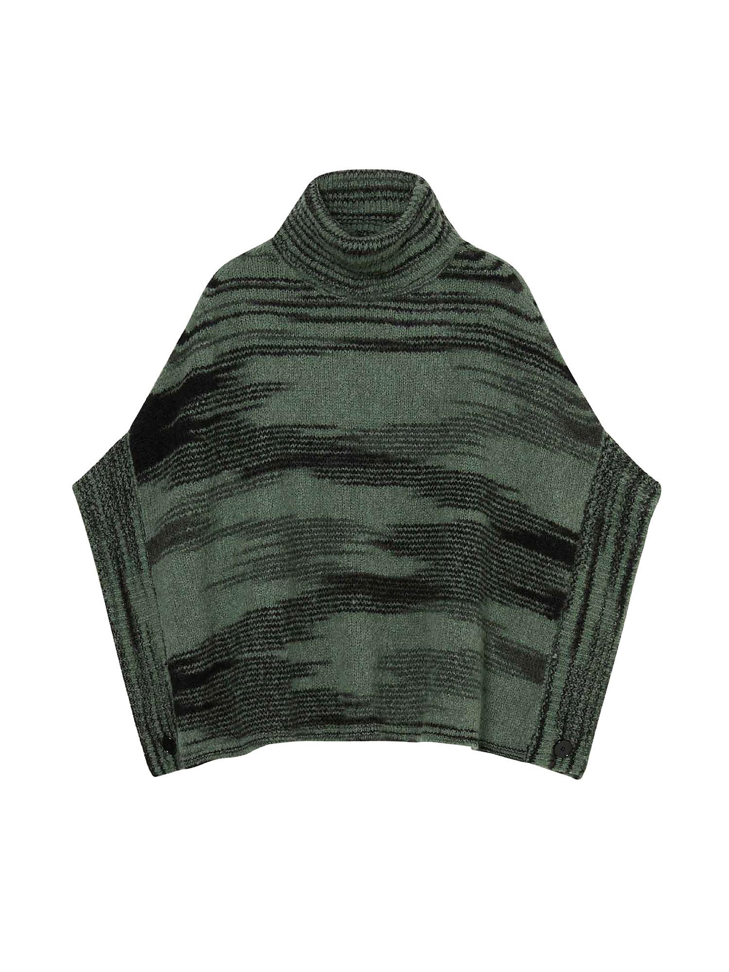 Mantella in maglia con filato stampato, Multicolor, large image number 0