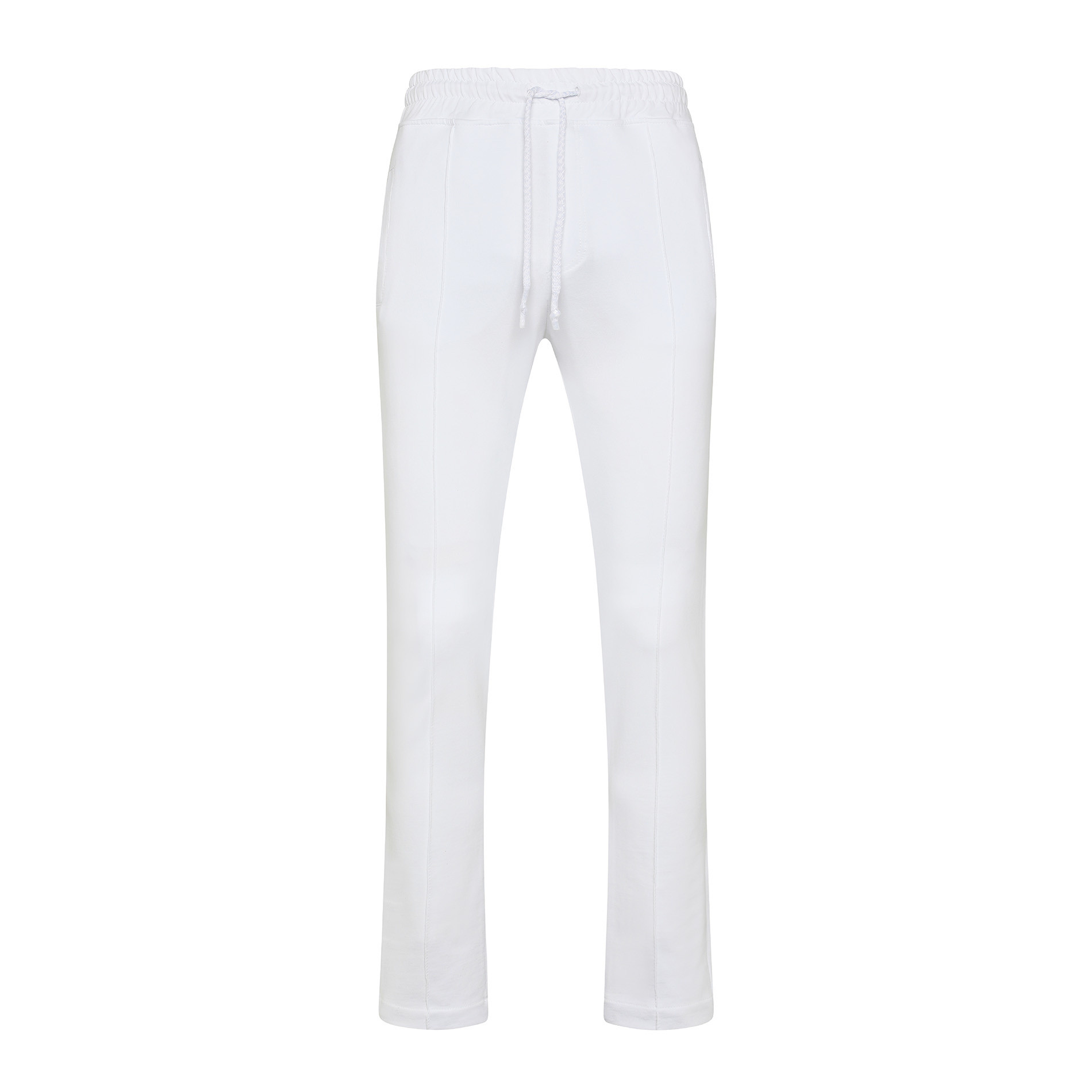 Pantalone felpa di cotone JCT, Bianco, large image number 0