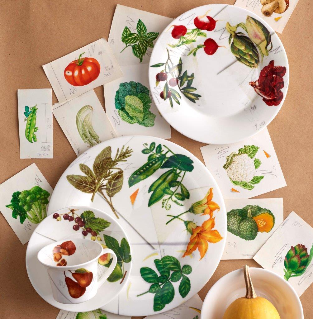 Tazza tea fine bone china decoro vegan La Cucina Italiana, Bianco, large image number 2