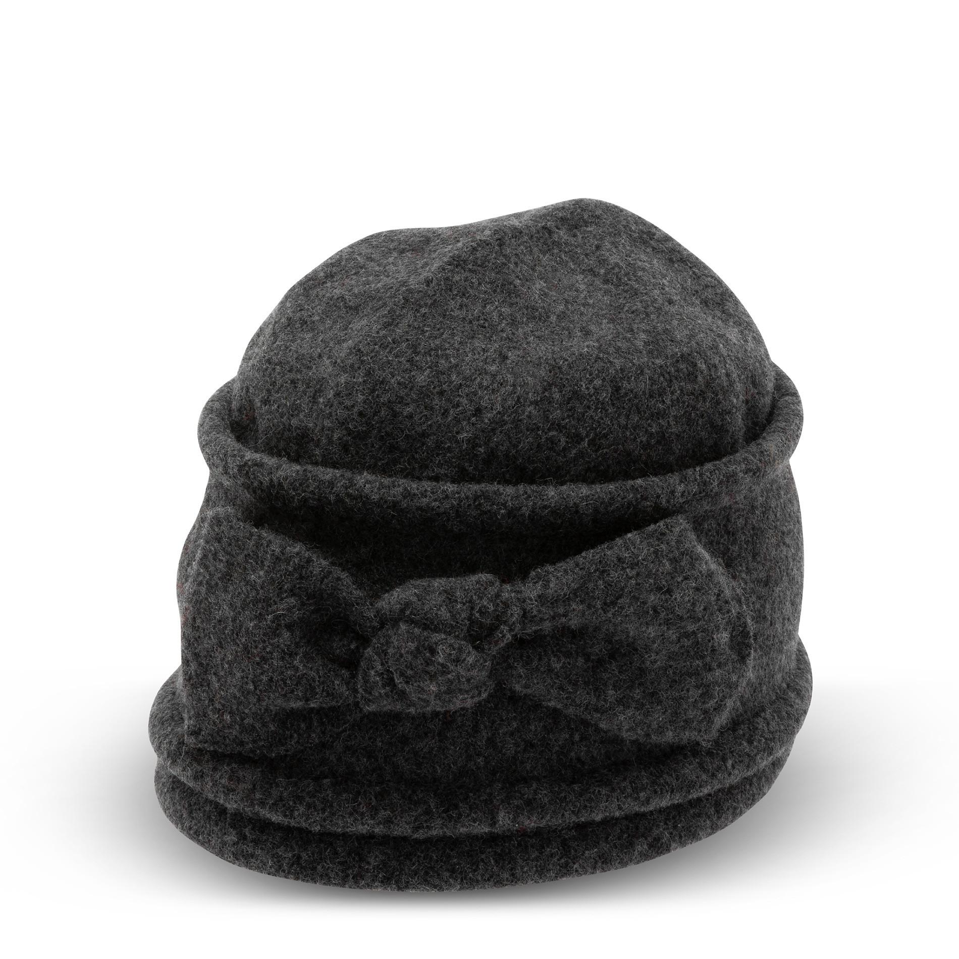 Berretto pura lana con fiocco Koan, Grigio scuro, large image number 0