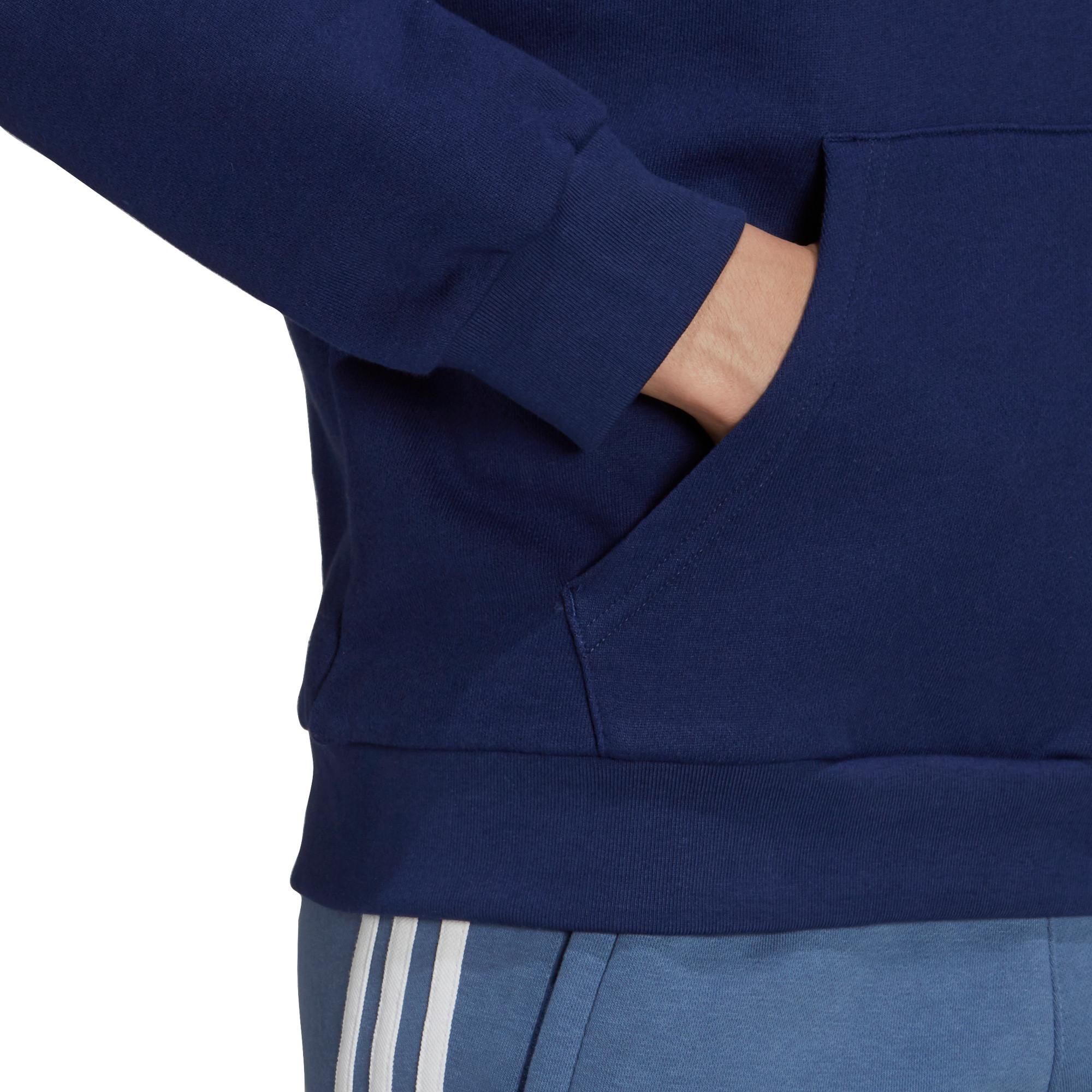 Felpa uomo con cappuccio adicolor Classics Trefoil, Bianco/Blu, large image number 5