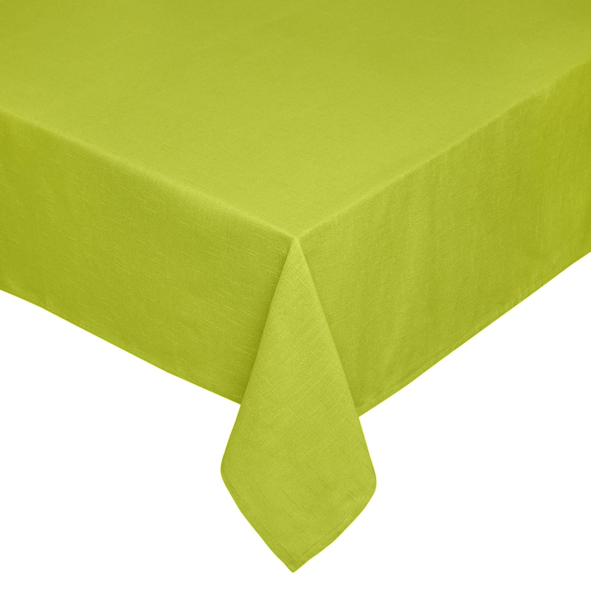 Tovaglia puro cotone fiammato, Verde mela, large image number 0