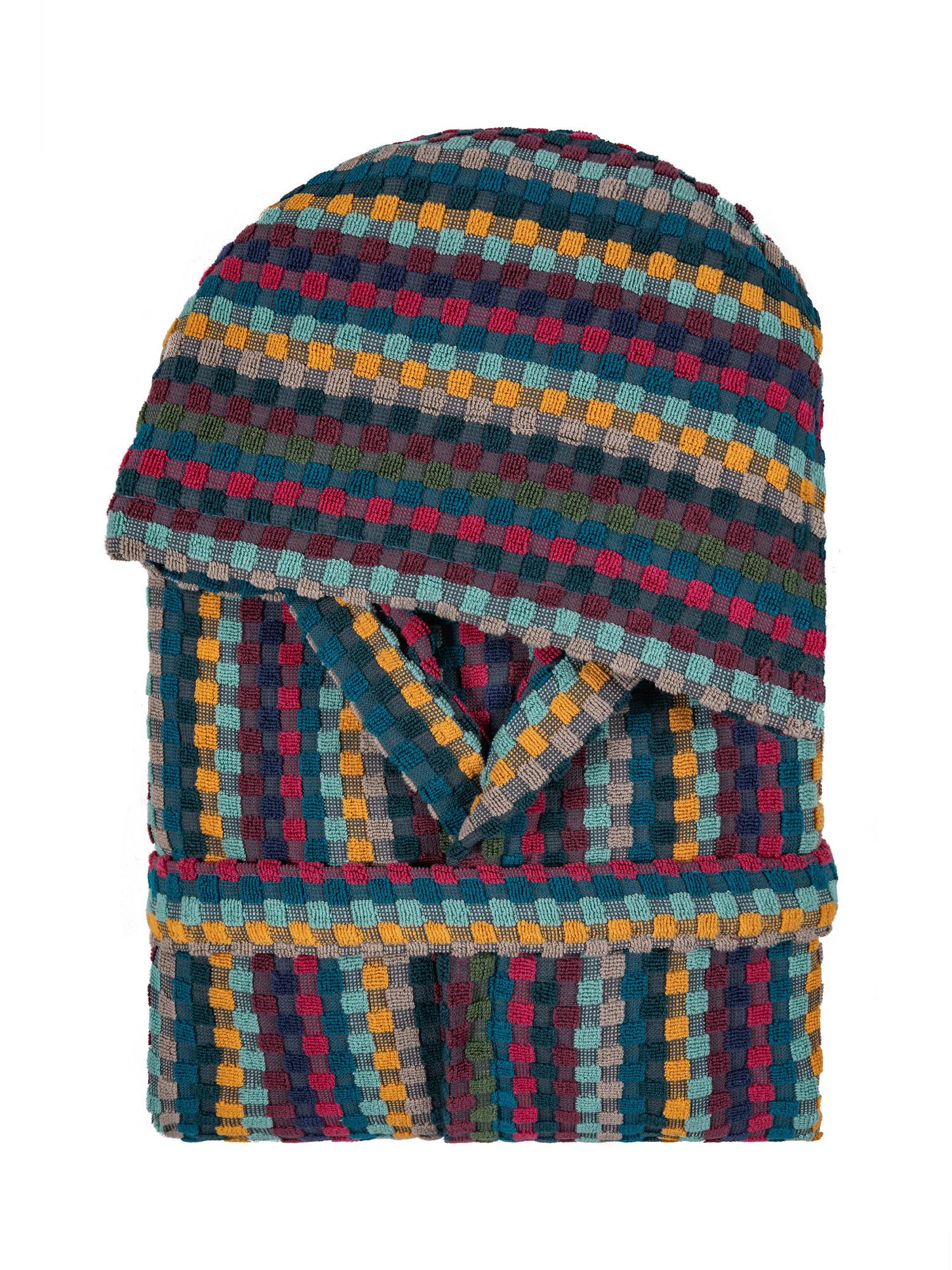 Accappatoio spugna di cotone motivo pois, Multicolor, large image number 1