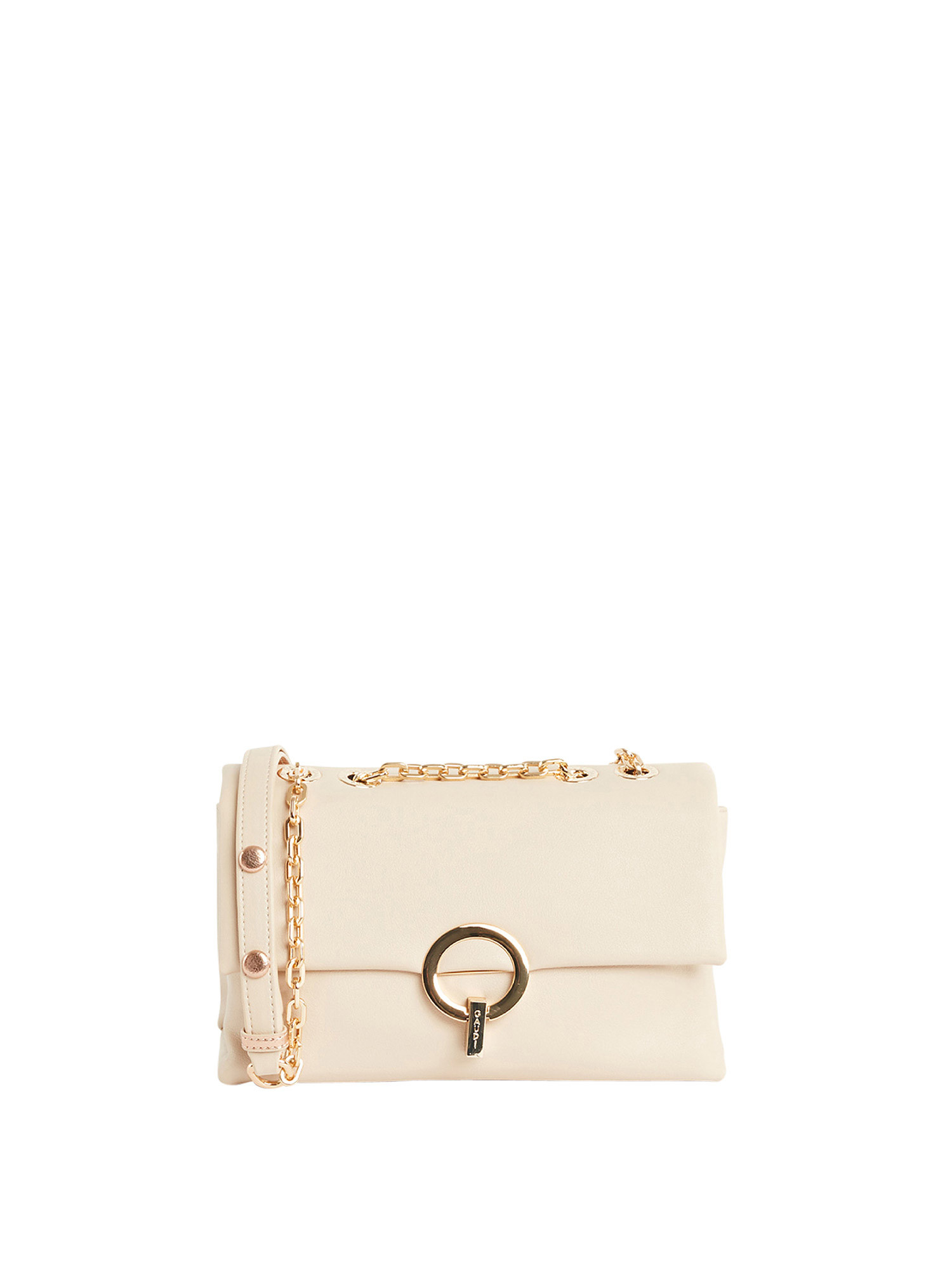 Borsa a tracolla in ecopelle, Beige, large image number 0