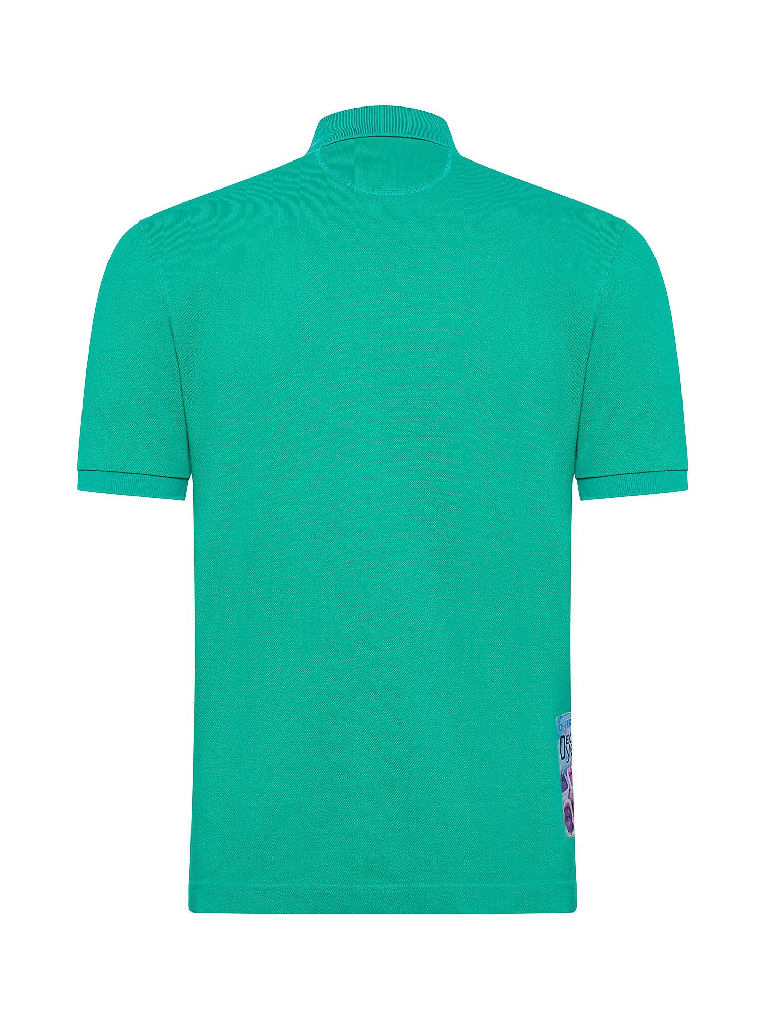 Polo da uomo a maniche corte in cotone regular fit, Verde, large image number 1