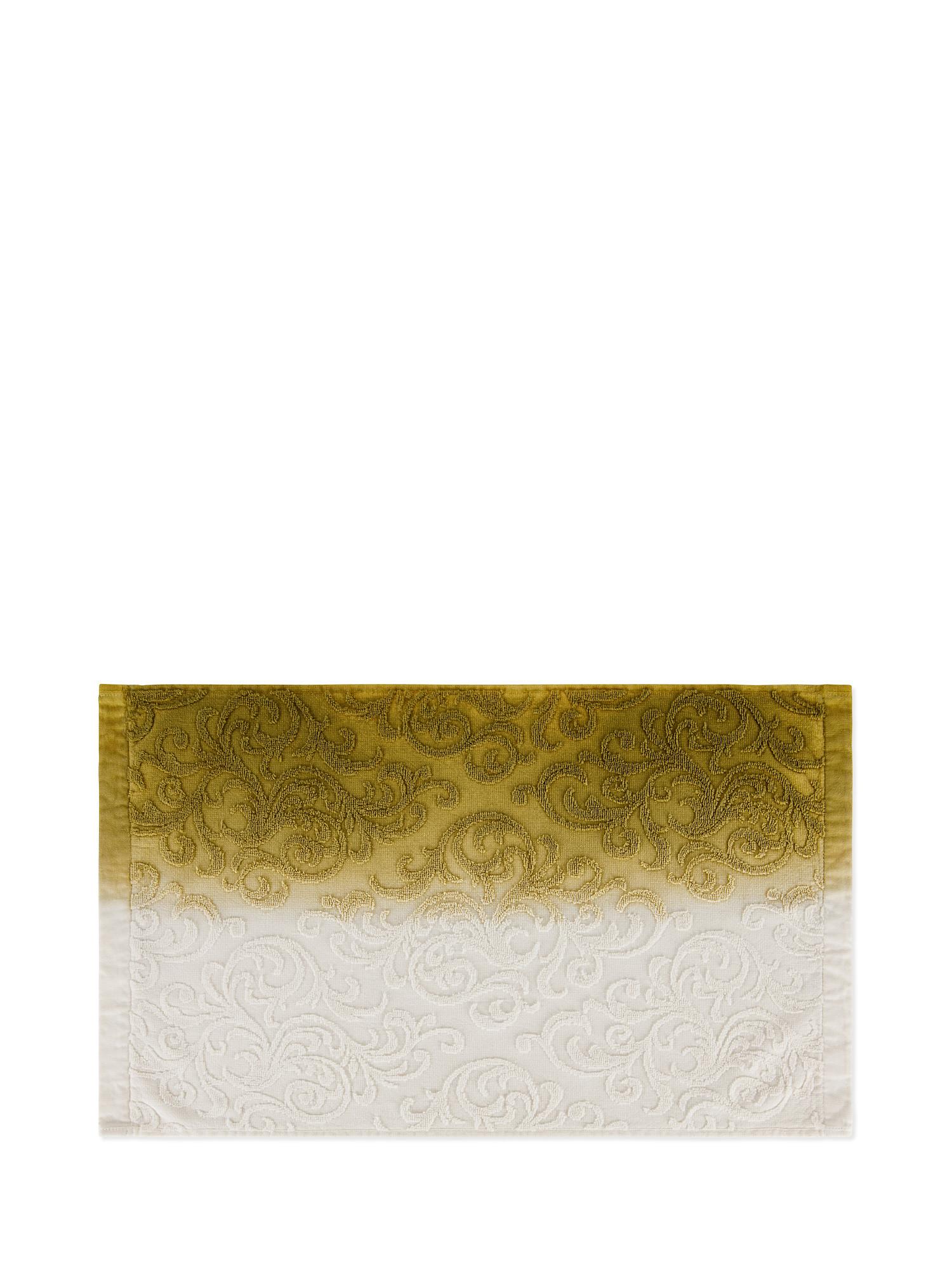 Asciugamano spugna di cotone dip dye, Verde, large image number 2