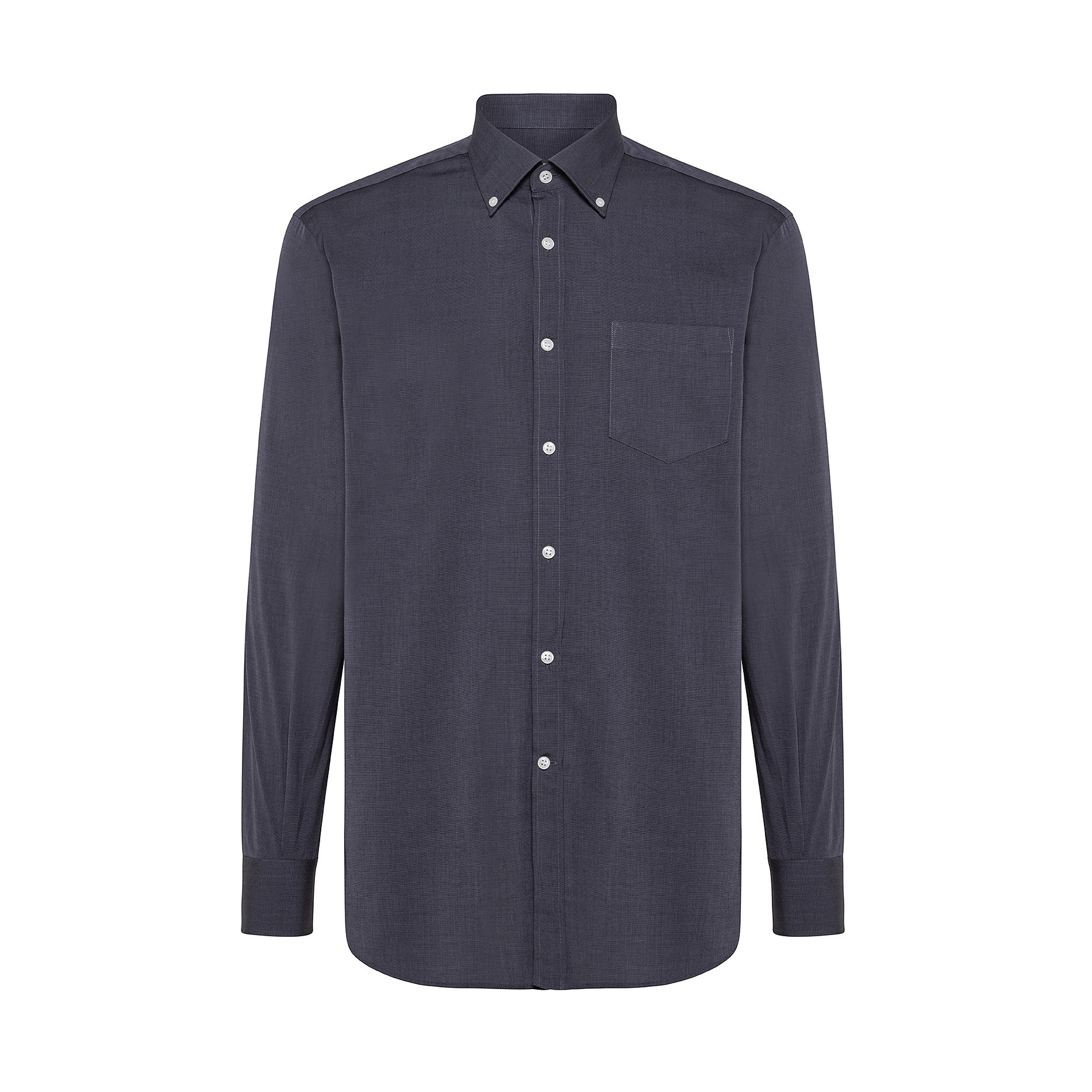 Camicia button-down regular fit in cotone, Nero, large image number 0