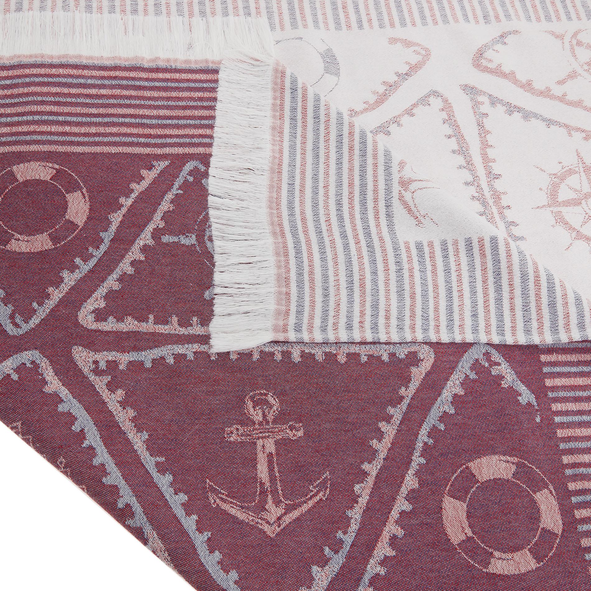 Telo mare cotone leggero motivo triangoli, Bianco, large image number 1