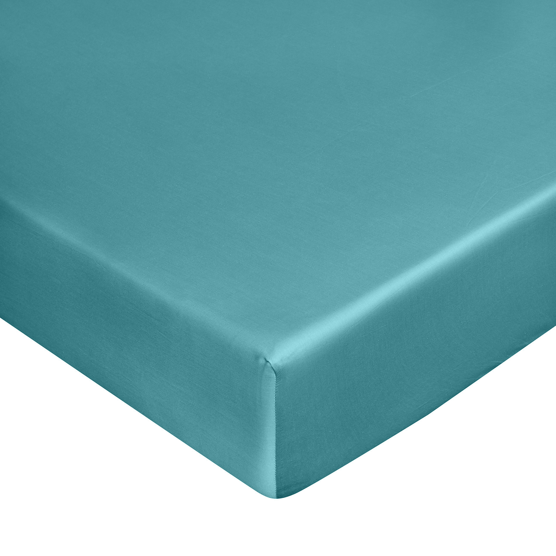 Lenzuolo con angoli raso di puro cotone Zefiro, Azzurro scuro, large image number 0