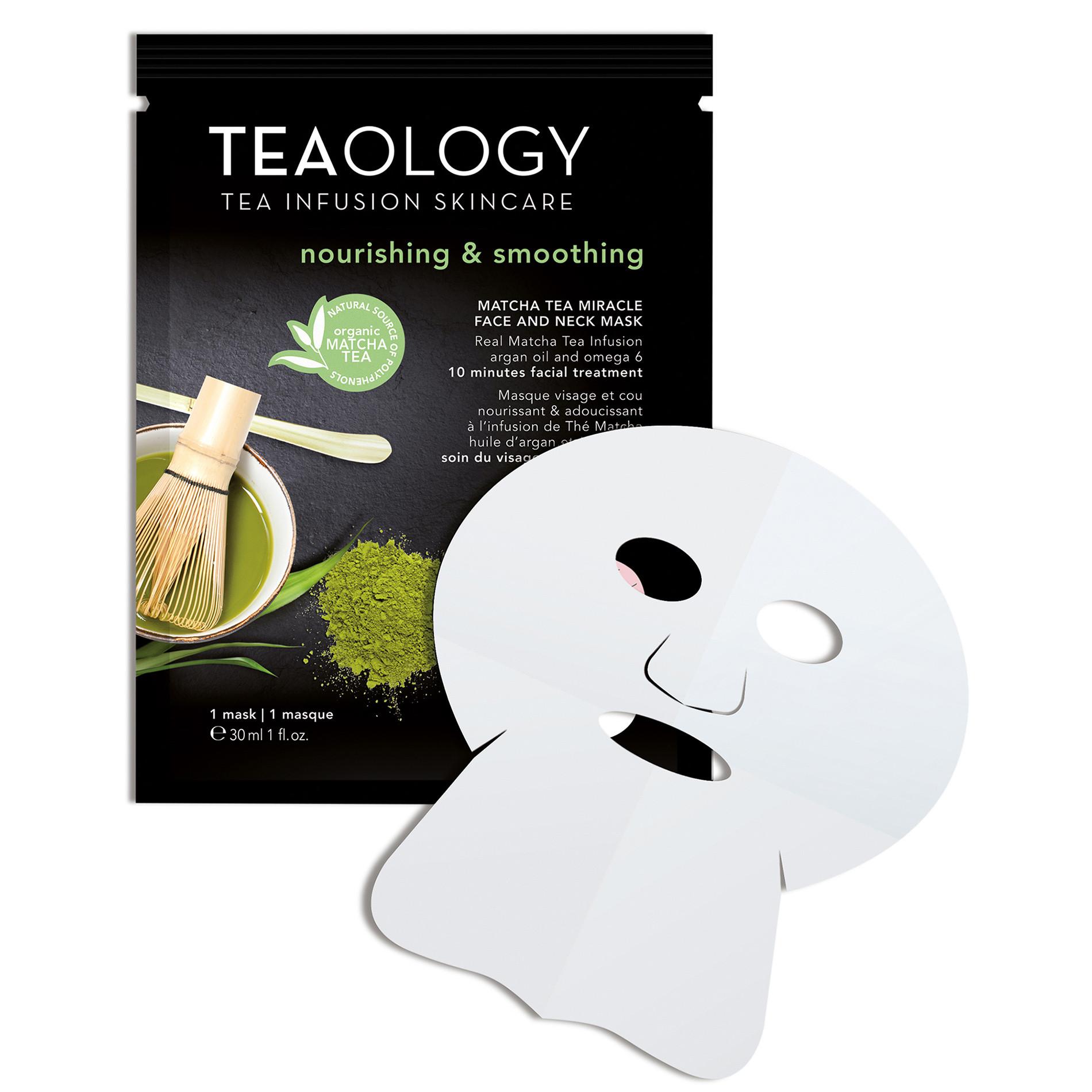 Matcha Tea Miracle Face and Neck Mask Nutriente e Levigante 30 ml, Nero, large image number 1