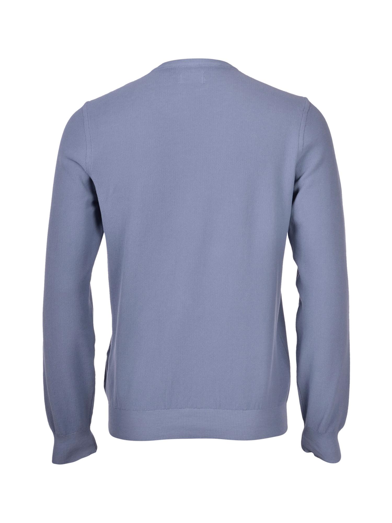 Maglia girocollo in cotone, Azzurro, large image number 1