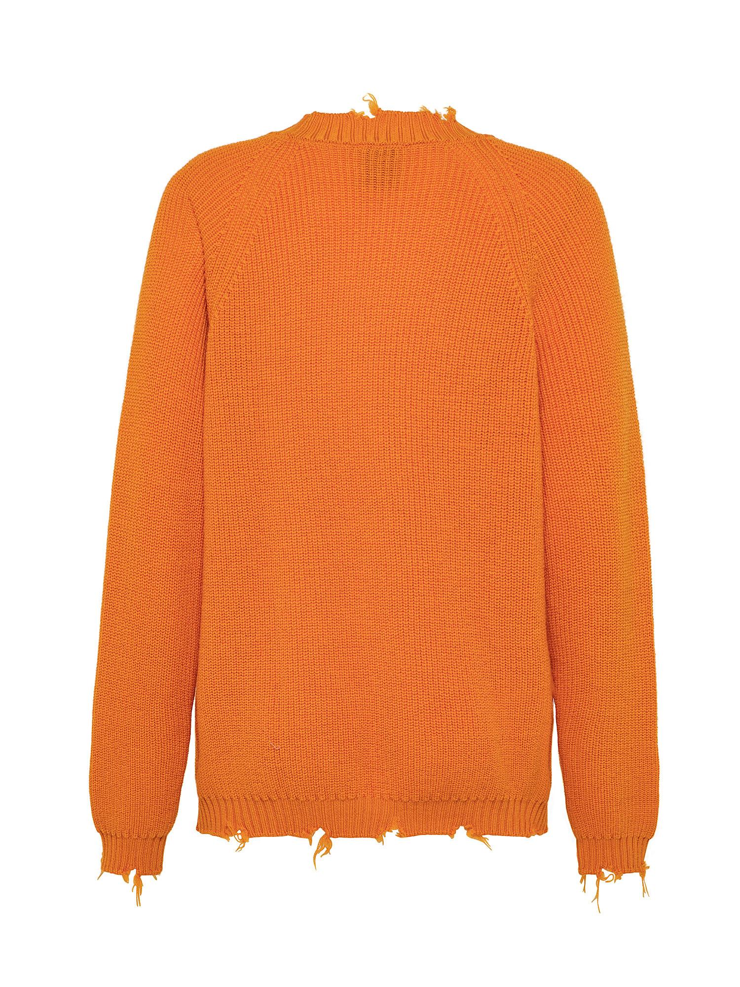 Maglione in pura lana, Arancione, large image number 1