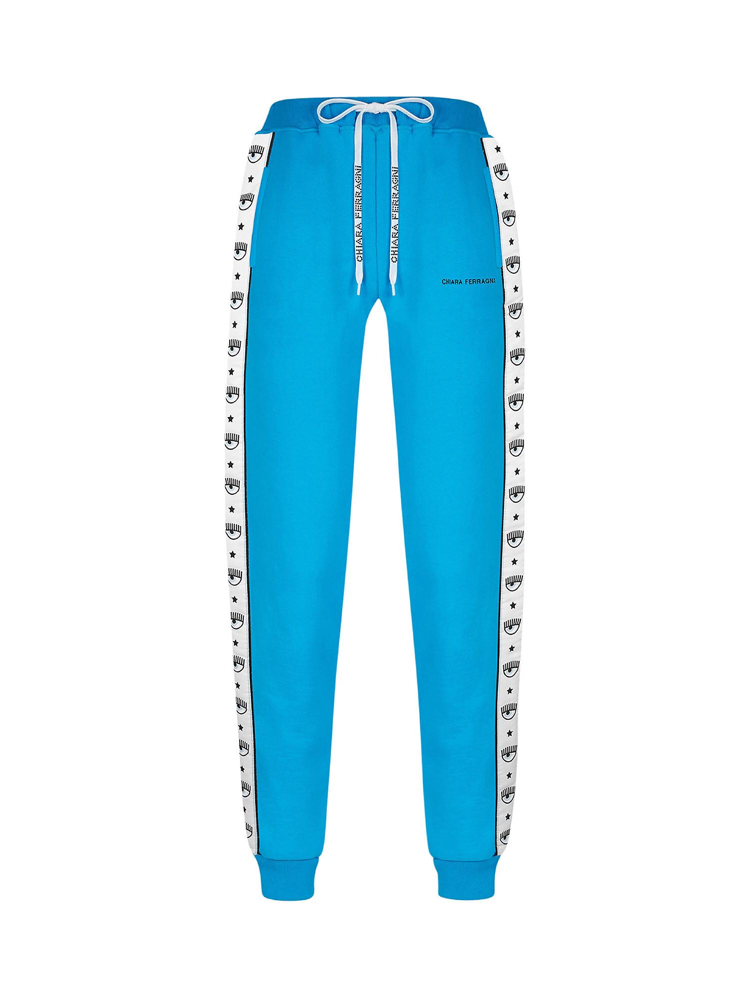 Jogger Logomania, Azzurro turchese, large image number 0