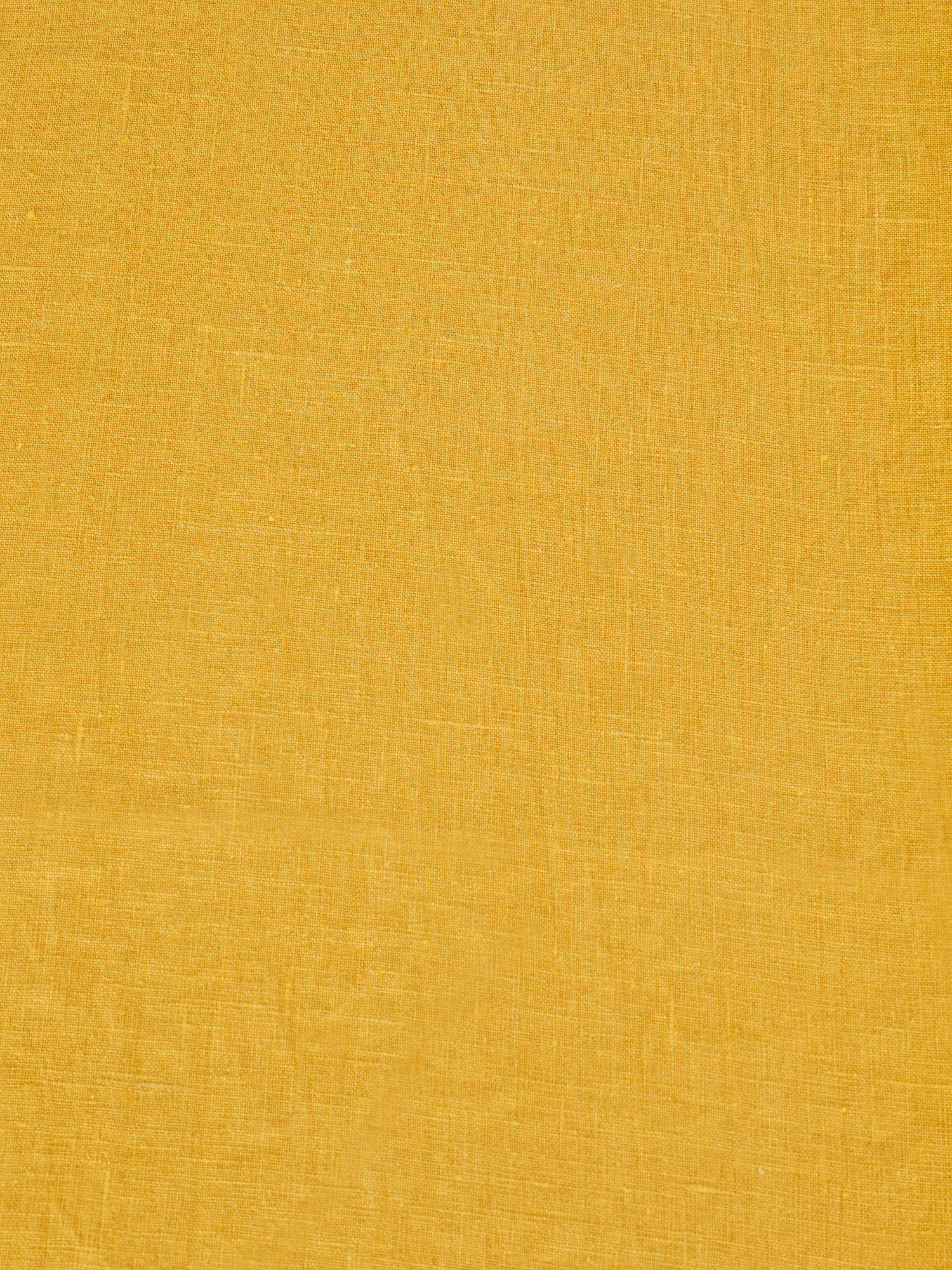 Runner lino lavato tinta unita, Giallo ocra, large image number 1