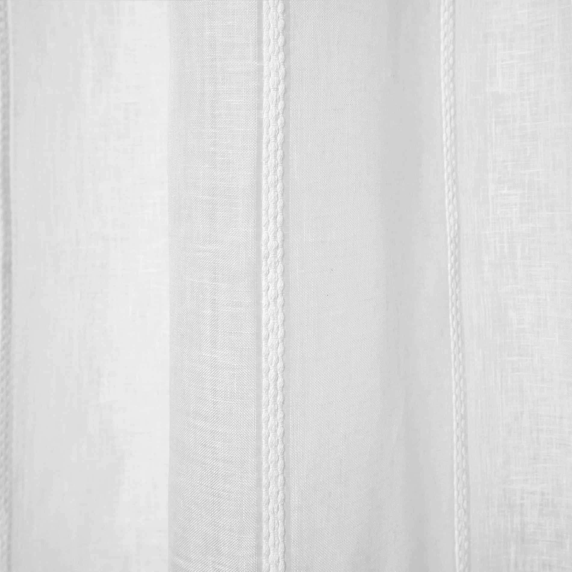 Tenda misto lino con applicazioni, Bianco, large image number 0
