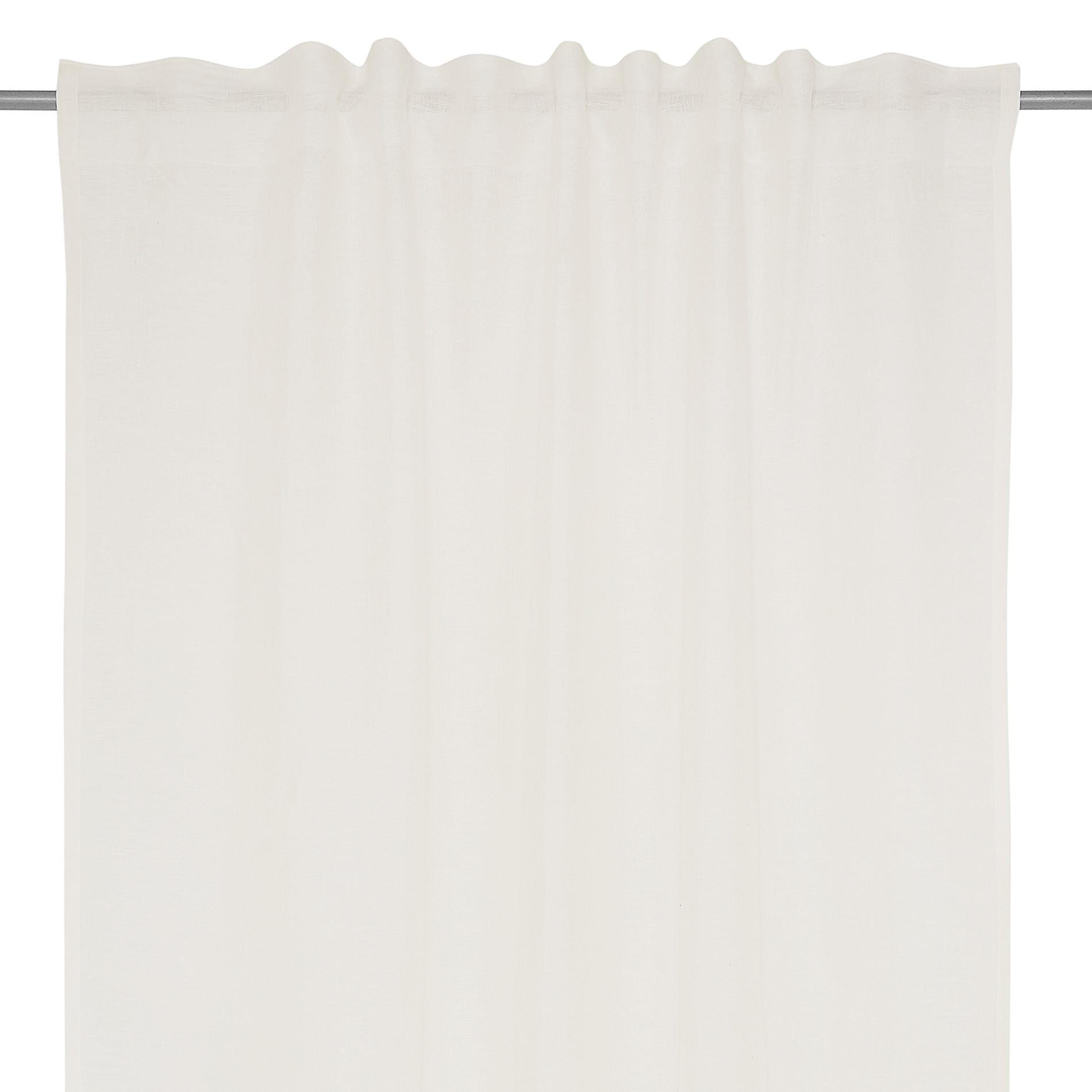 Tenda puro lino tinta unita, Bianco, large image number 2