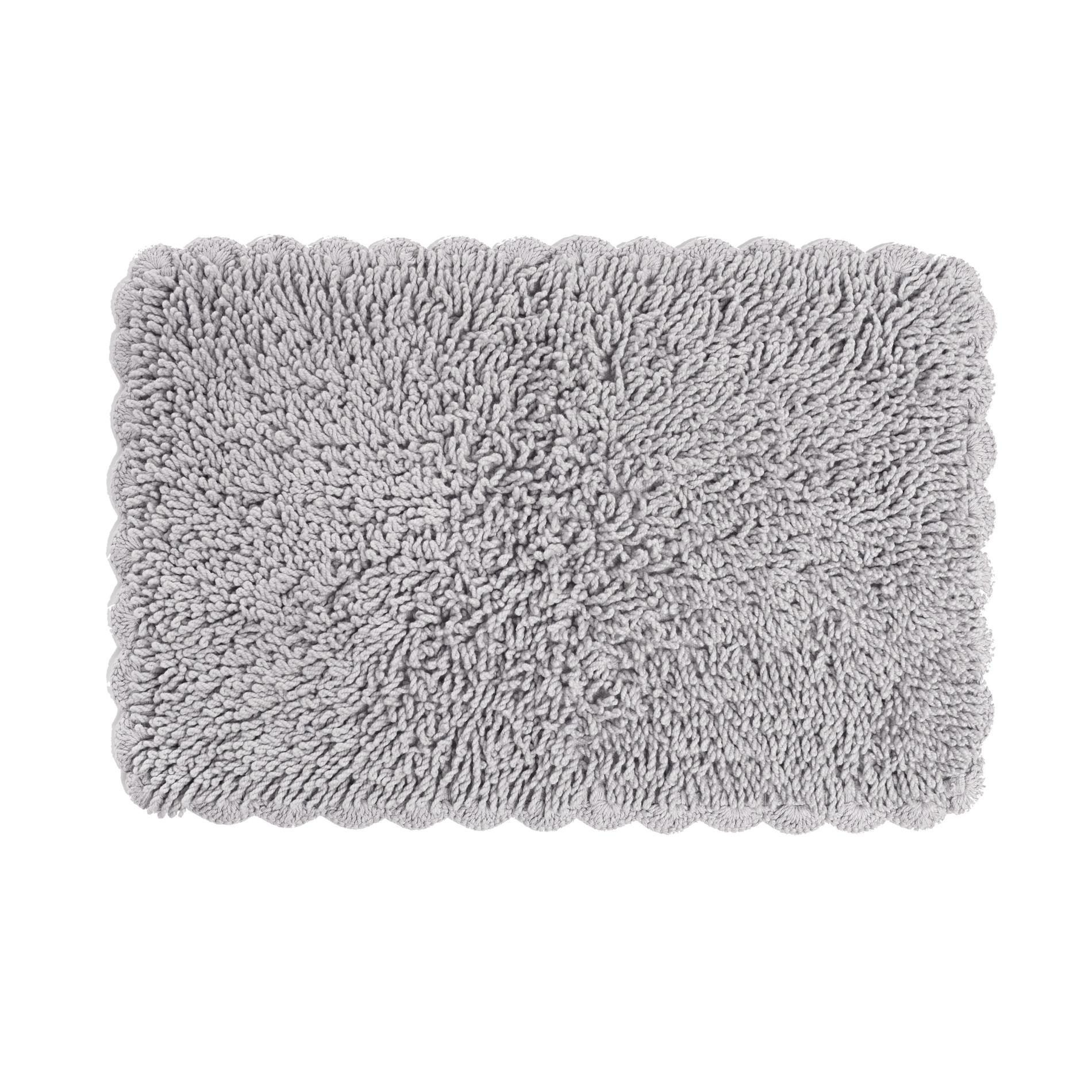 Tappeto bagno con crochet, Grigio chiaro, large image number 0