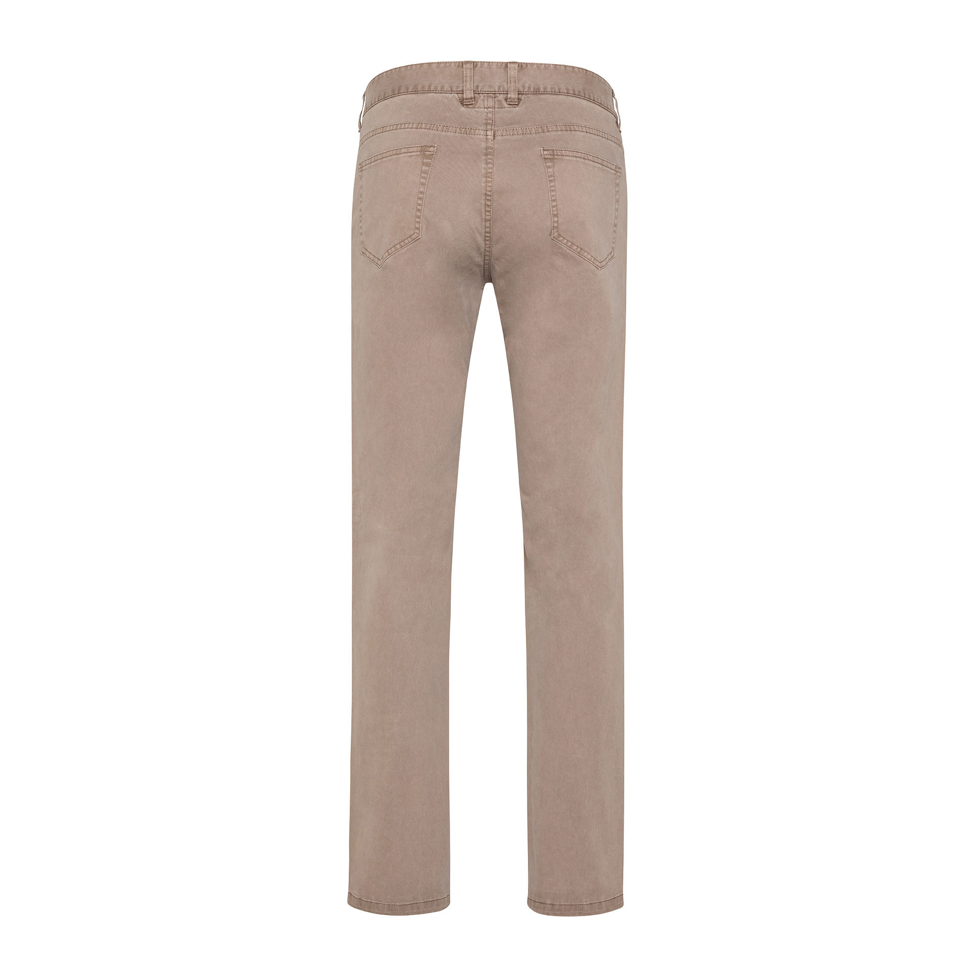 Pantaloni chino in tessuto stretch, Beige, large image number 1