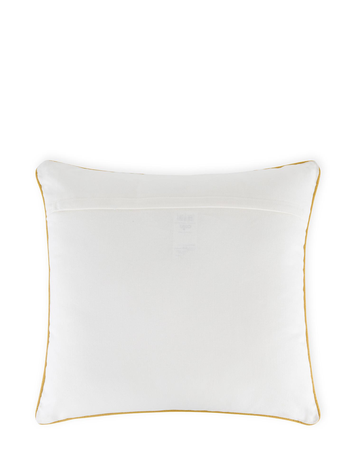 Cuscino cotone ricamo foglie 45x45cm, Multicolor, large image number 1