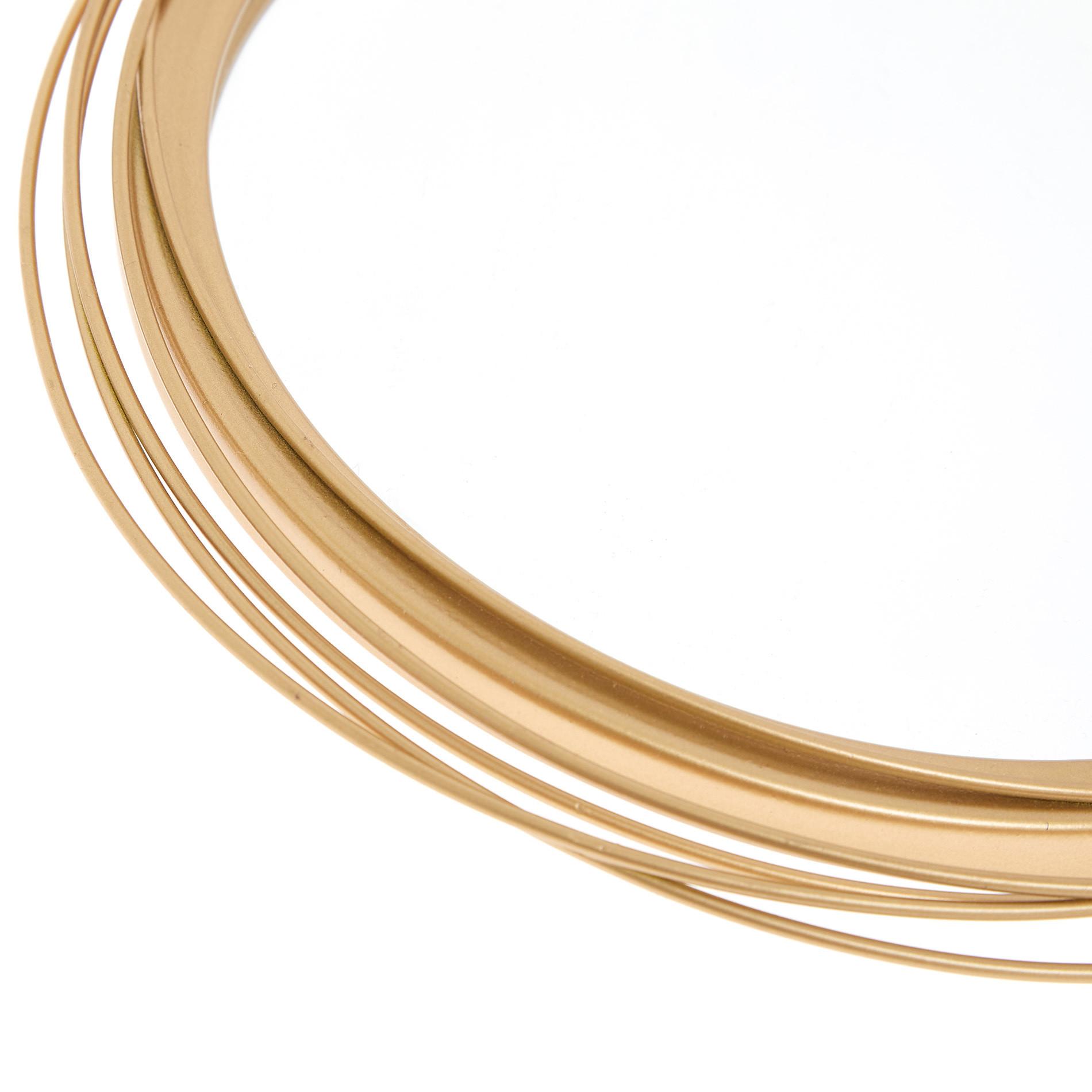 Specchi decorativi cornice ferro, Oro, large image number 1