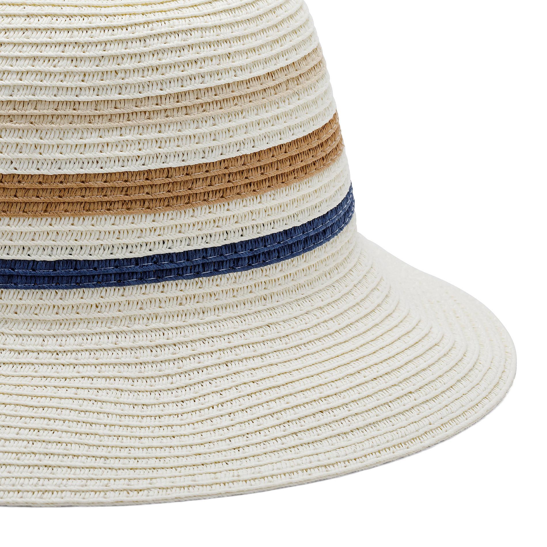 Cappello di paglia a tre righe Koan, Blu, large image number 1