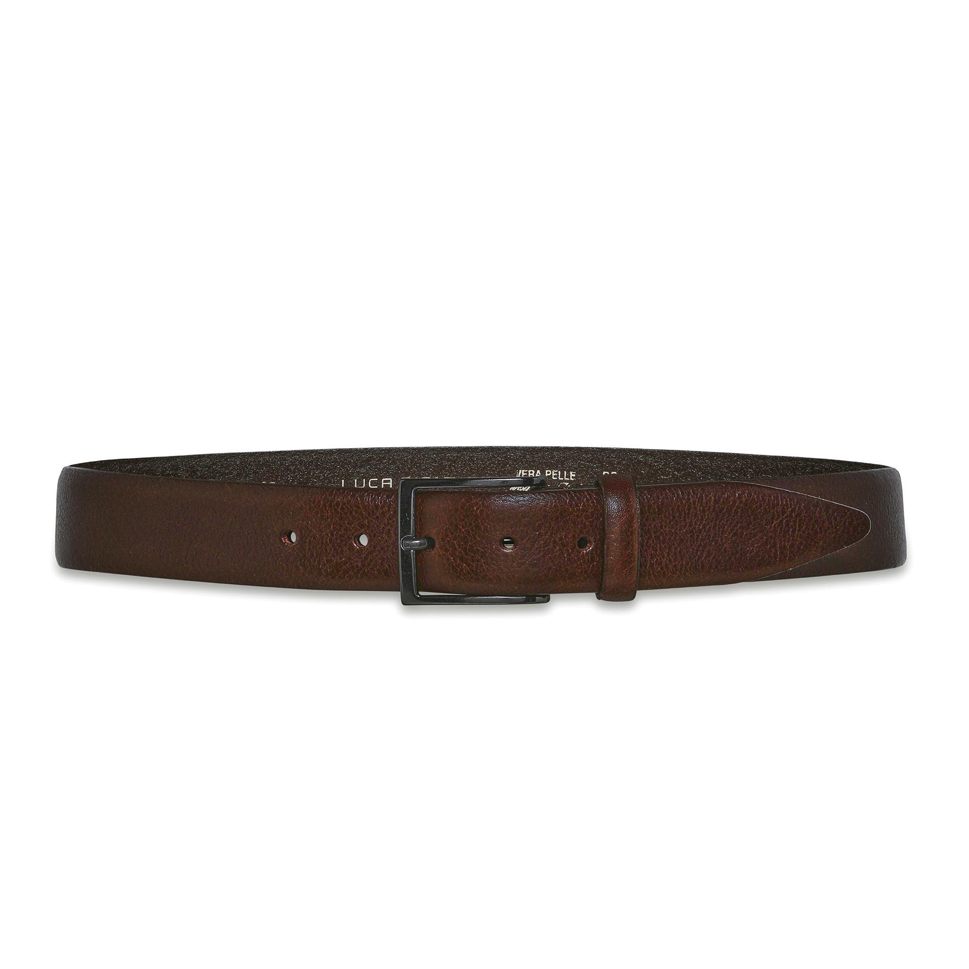 Cintura vera pelle Luca D'Altieri, Marrone scuro, large image number 1