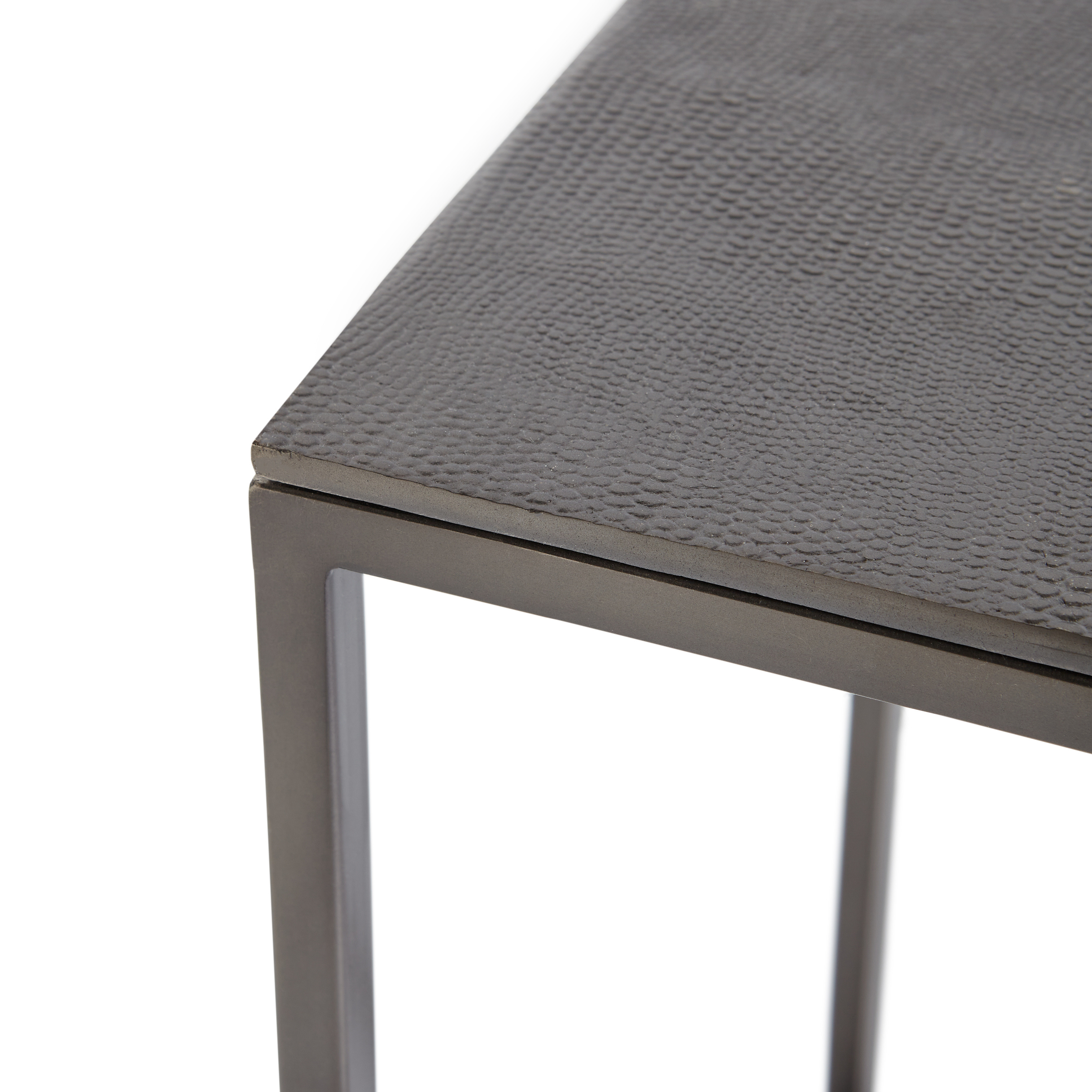 Coffee table in metallo cromato Snake, Grigio scuro, large image number 1