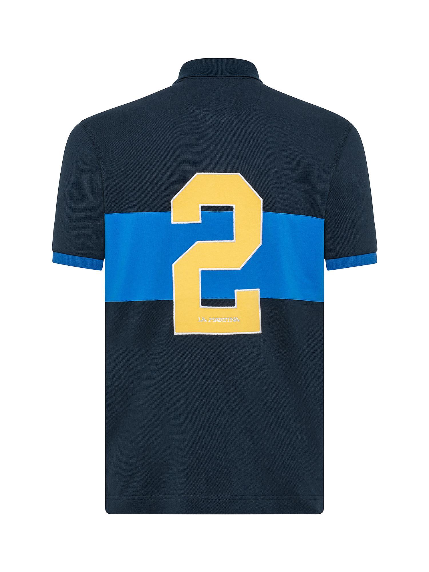 Polo da uomo a maniche corte regular fit, Blu, large image number 1