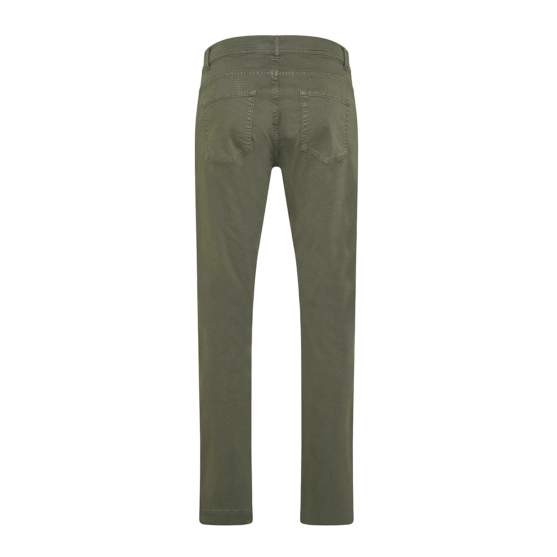 Pantalone cotone stretch 5 tasche JCT, Verde scuro, large image number 1