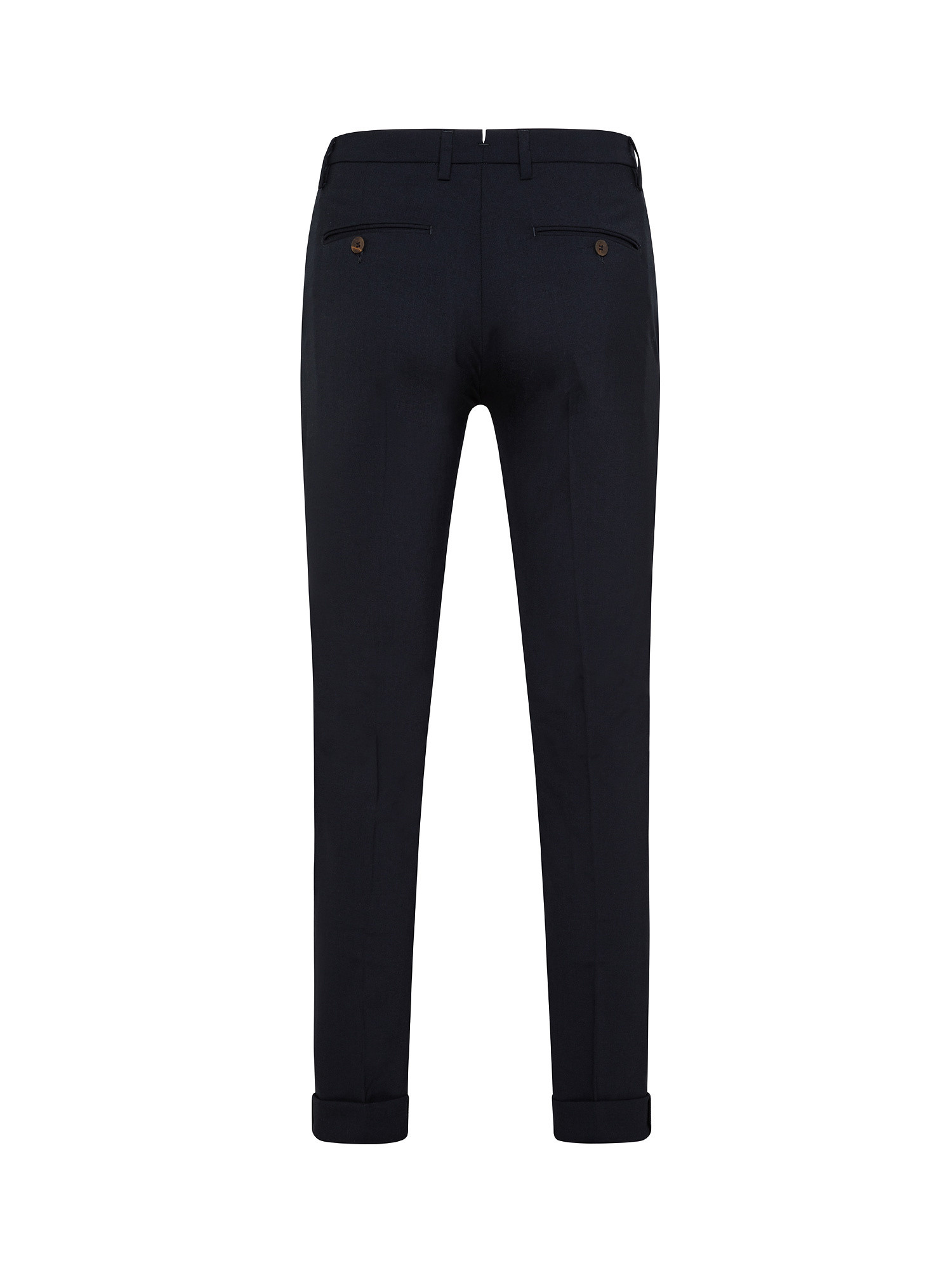 Pantalone chino misto lana, Blu scuro, large image number 1