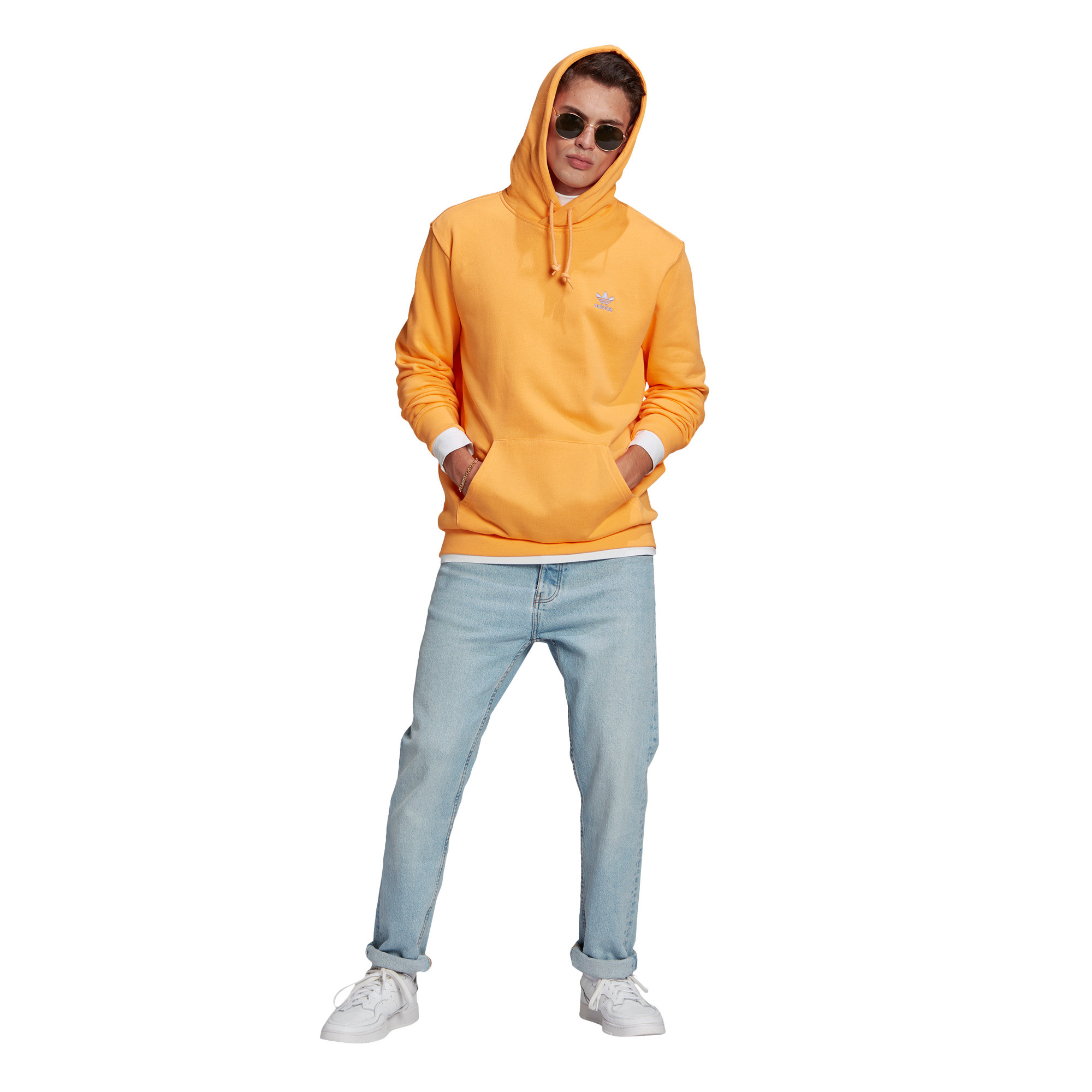 Felpa in spugna loungewear trefoil essentials, Arancione, large image number 5