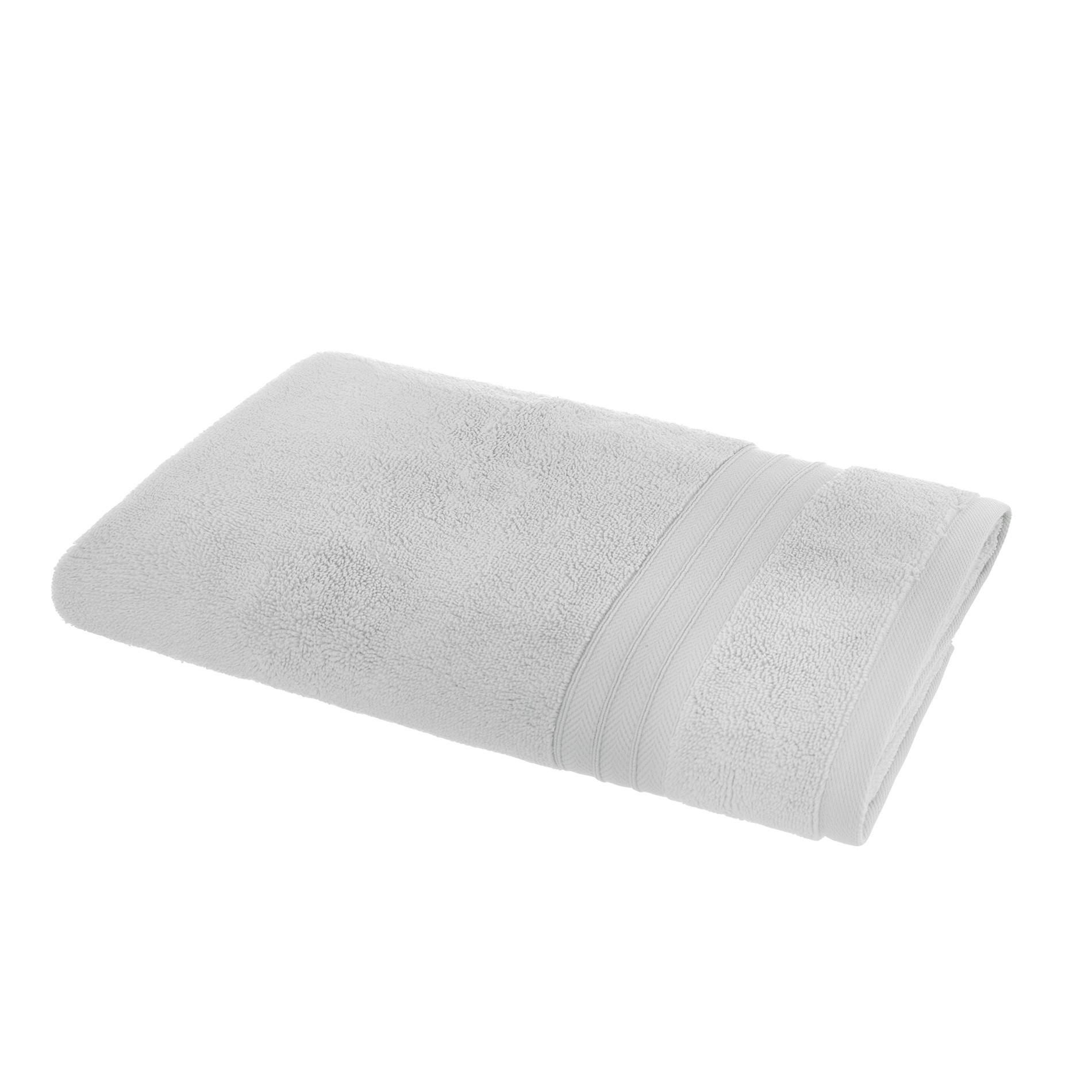 Asciugamano puro cotone tinta unita Thermae, Grigio perla, large image number 1