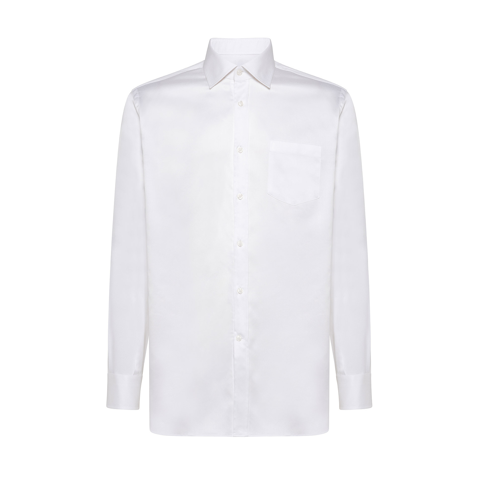 Camicia colletto francese in cotone, Bianco, large image number 0