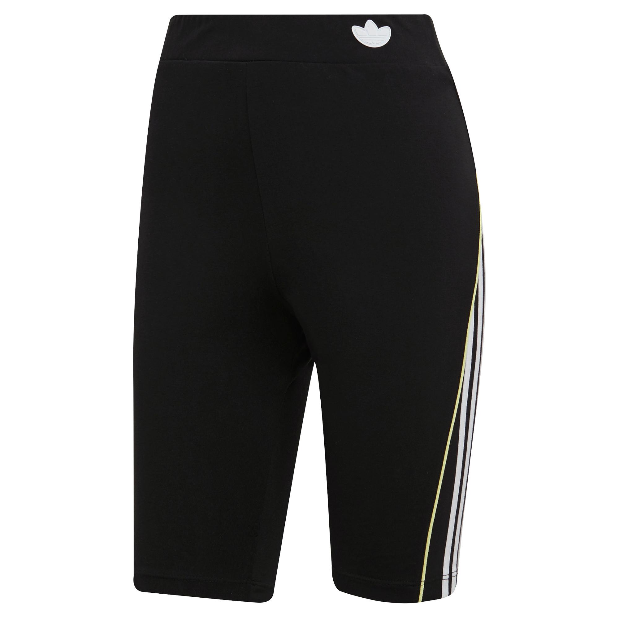 Shorts a vita alta con bordino corto, Nero, large image number 0