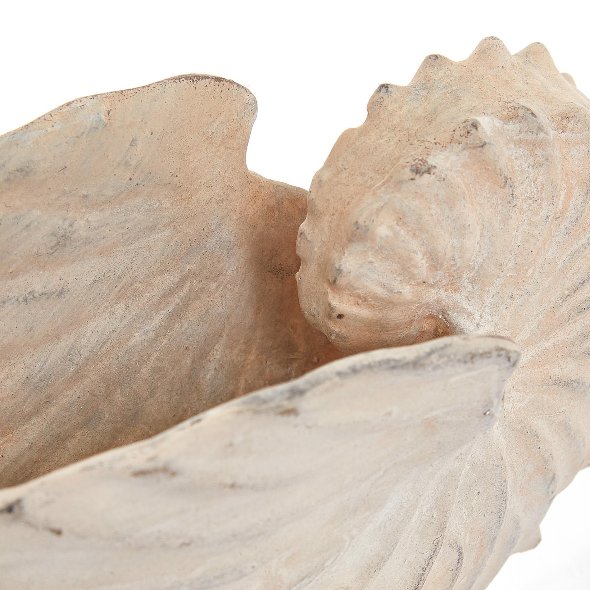 Conchiglia decorativa rifinita a mano, Bianco, large image number 1