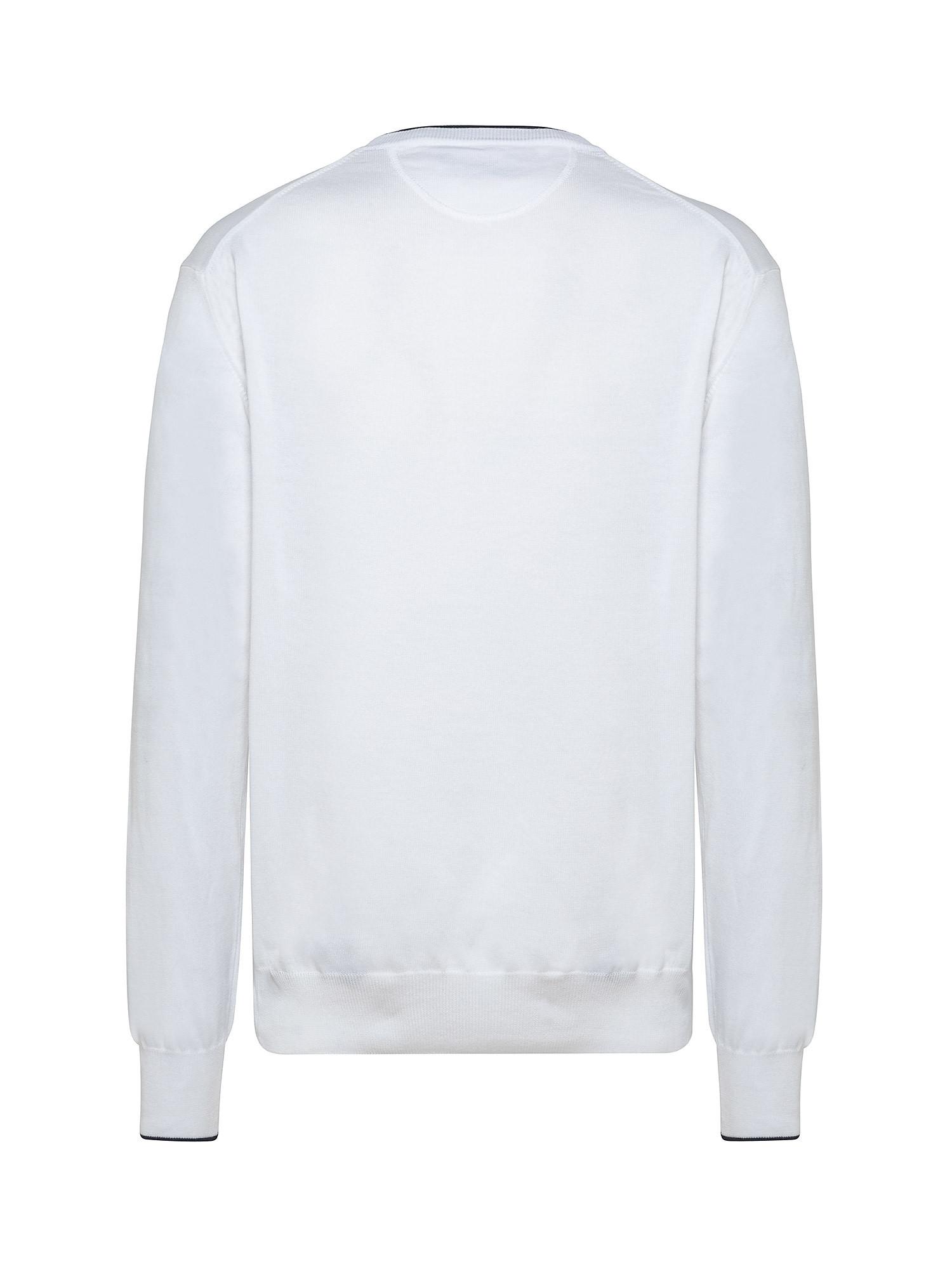 Felpa da uomo in cotone regular fit, Bianco, large image number 1