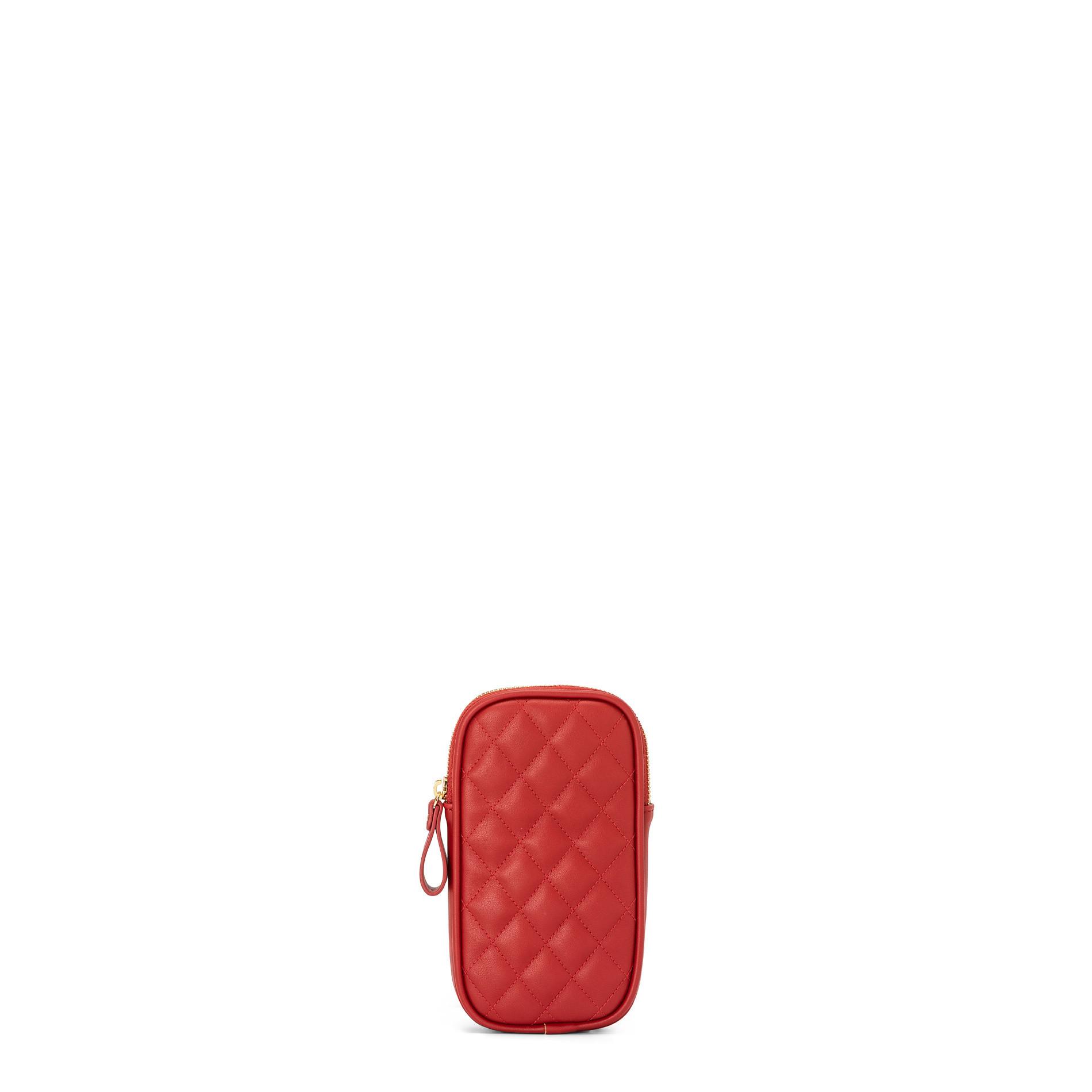 Porta smartphone effetto trapuntato Koan, Rosso scuro, large image number 1