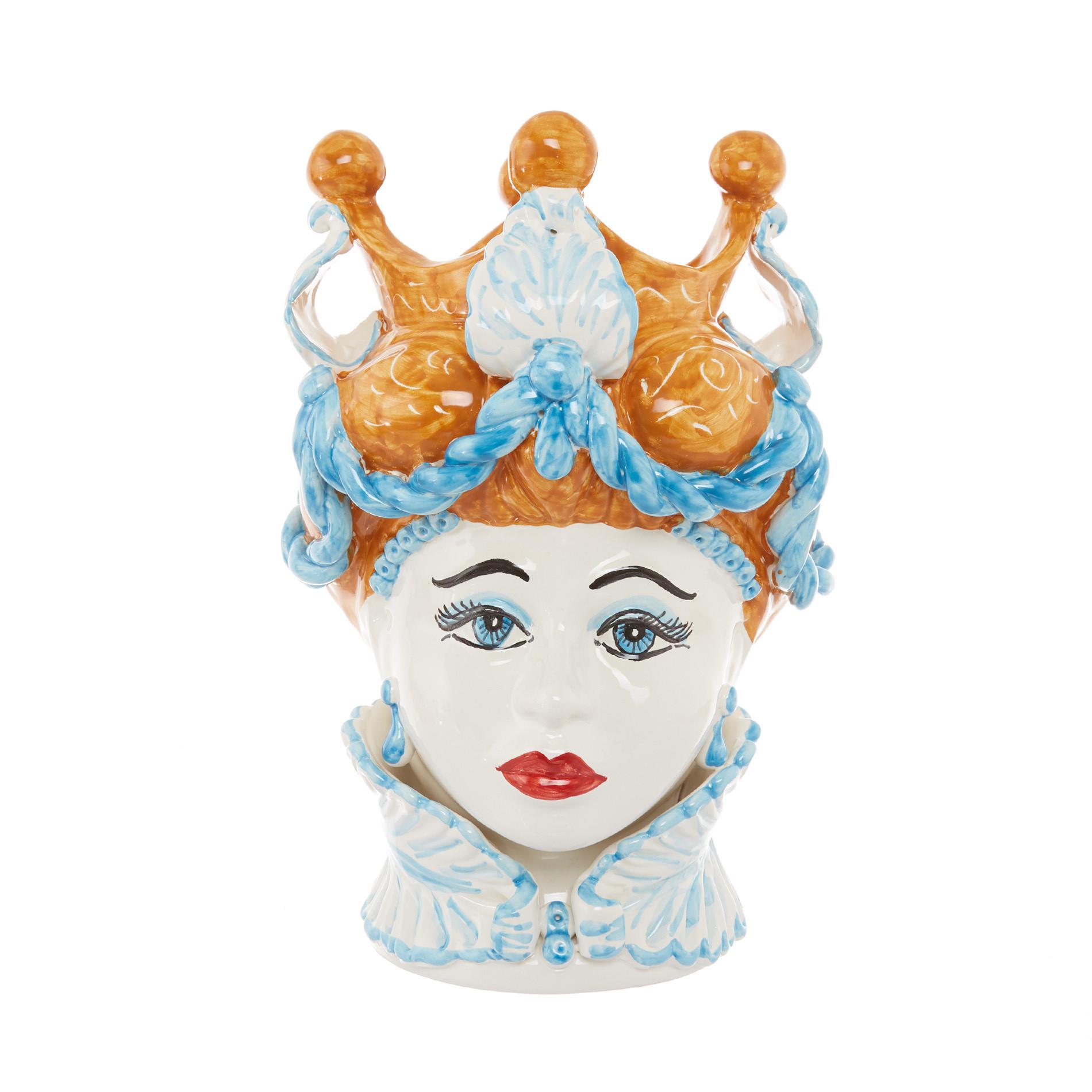 Testa di moro arabesque by Ceramiche Siciliane Ruggeri, Multicolor, large image number 0