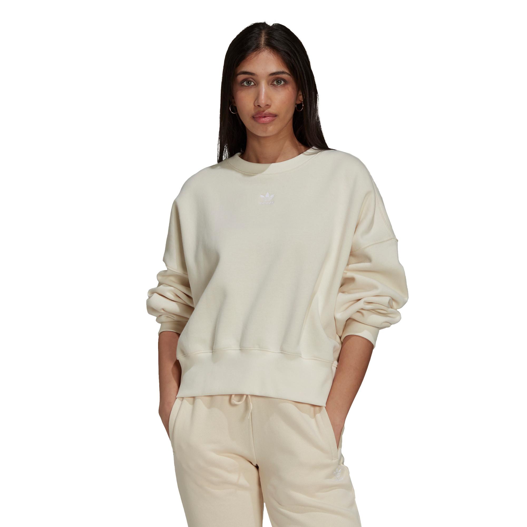 Felpa adicolor Essentials Fleece, Bianco, large image number 2