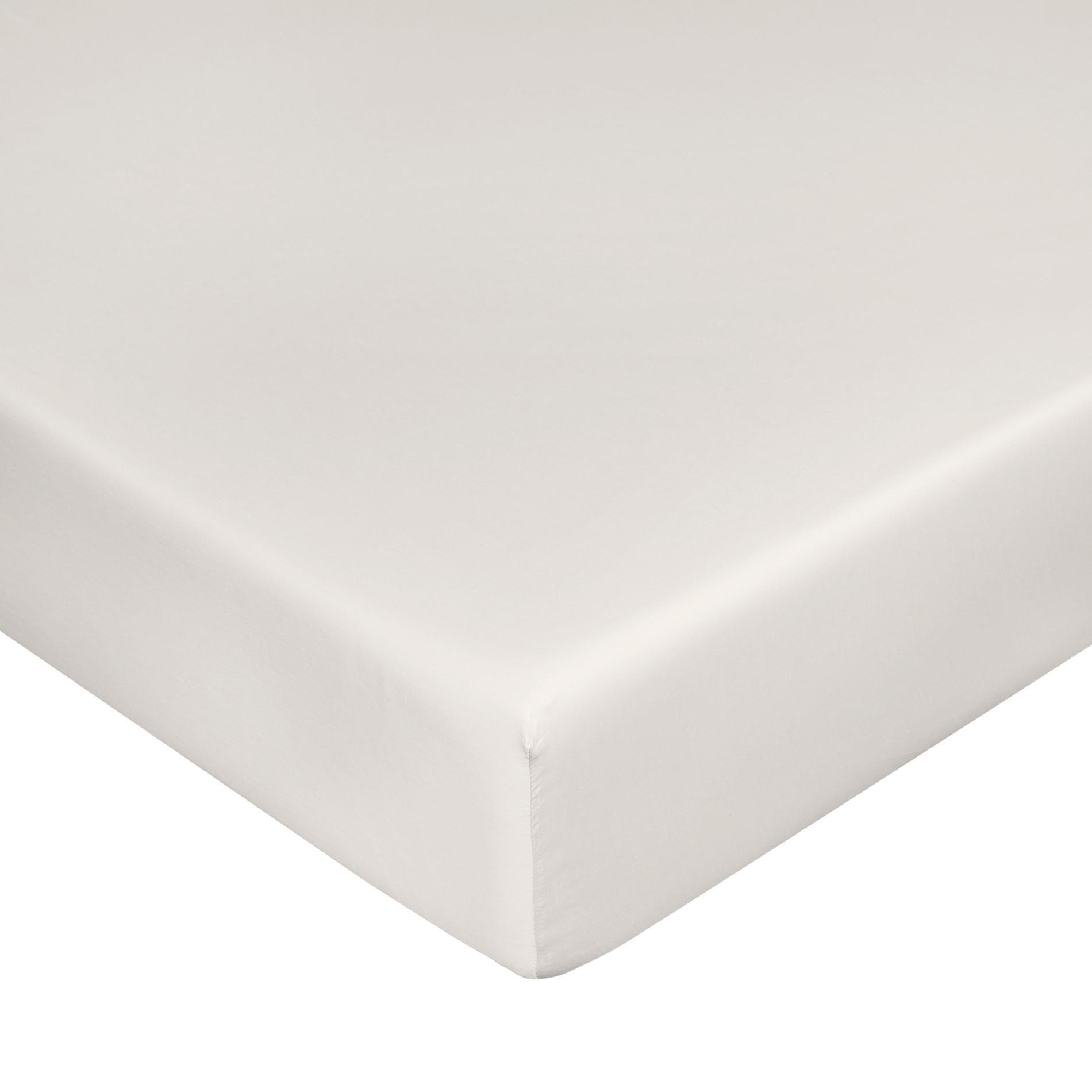 Lenzuolo con angoli raso di puro cotone Zefiro, Greige, large image number 0