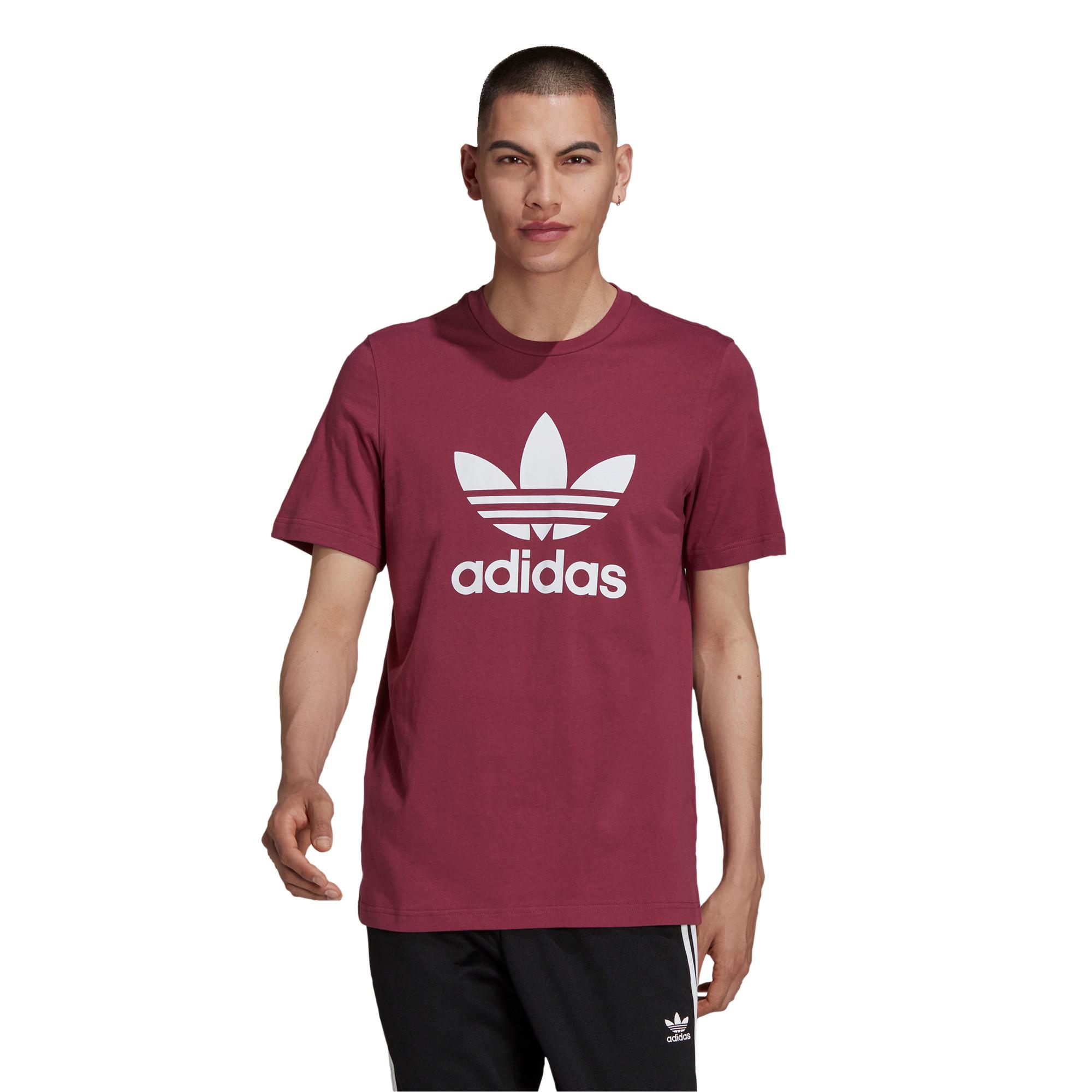 T-shirt uomo adicolor Classics Trefoil, Bianco/Rosso, large image number 2