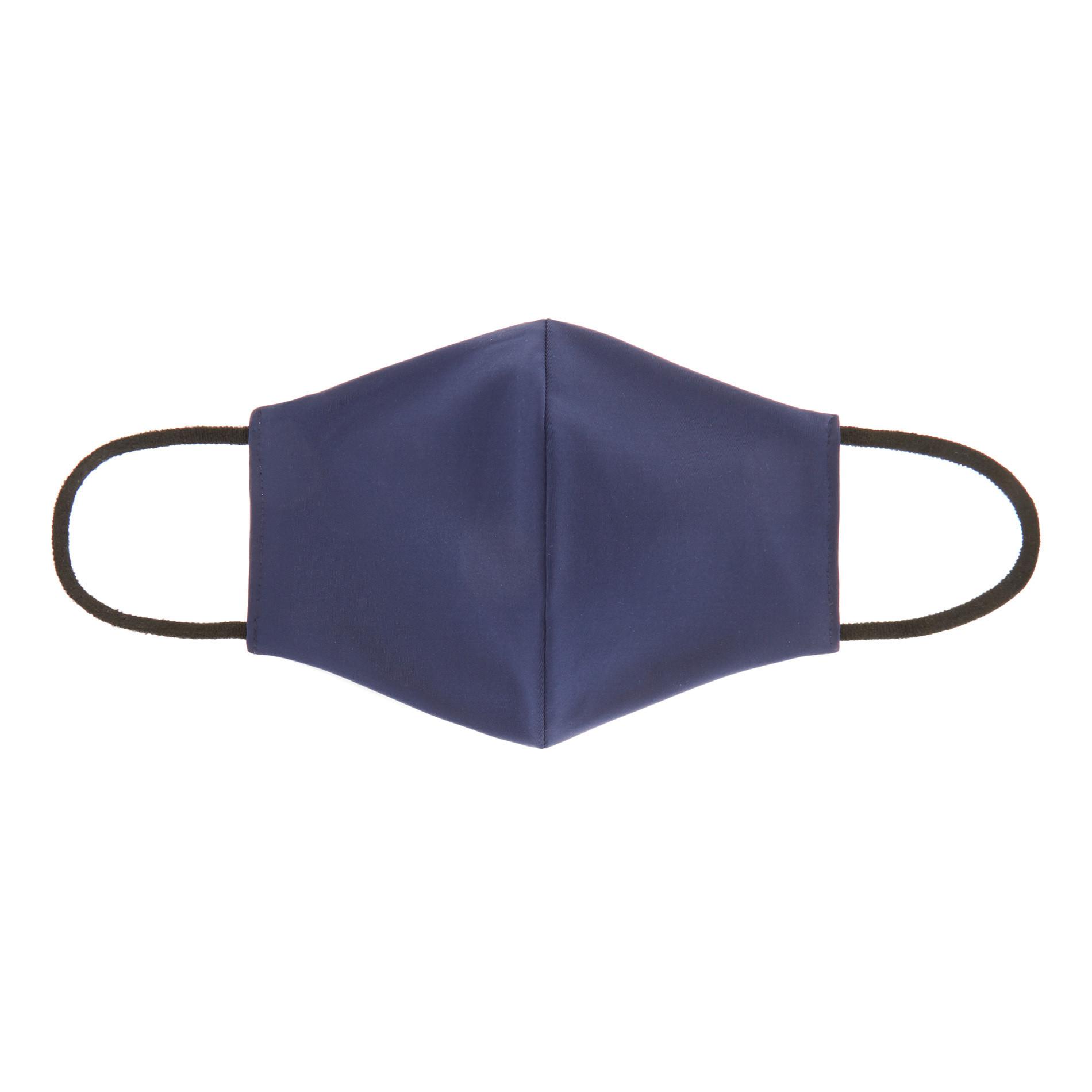 Mascherina lavabile tessuto tinta unita, Blu, large image number 0